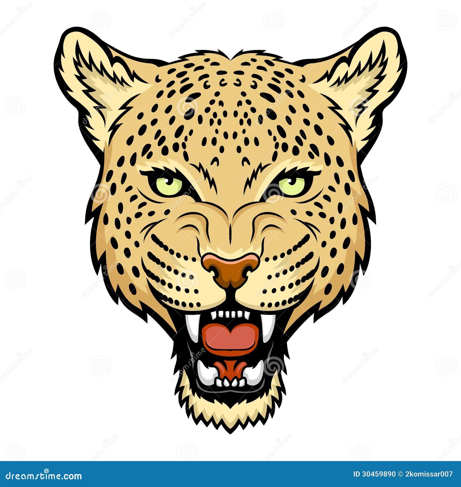 leopard roar stock illustrations 203 leopard roar stock rh dreamstime com Prints Clip Art Black Roses Leopard Clip Art