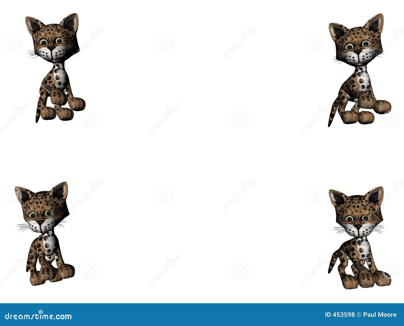 Download Leopard Kitties - Copy Space Stock Illustration - Illustration of animals, small: 453598