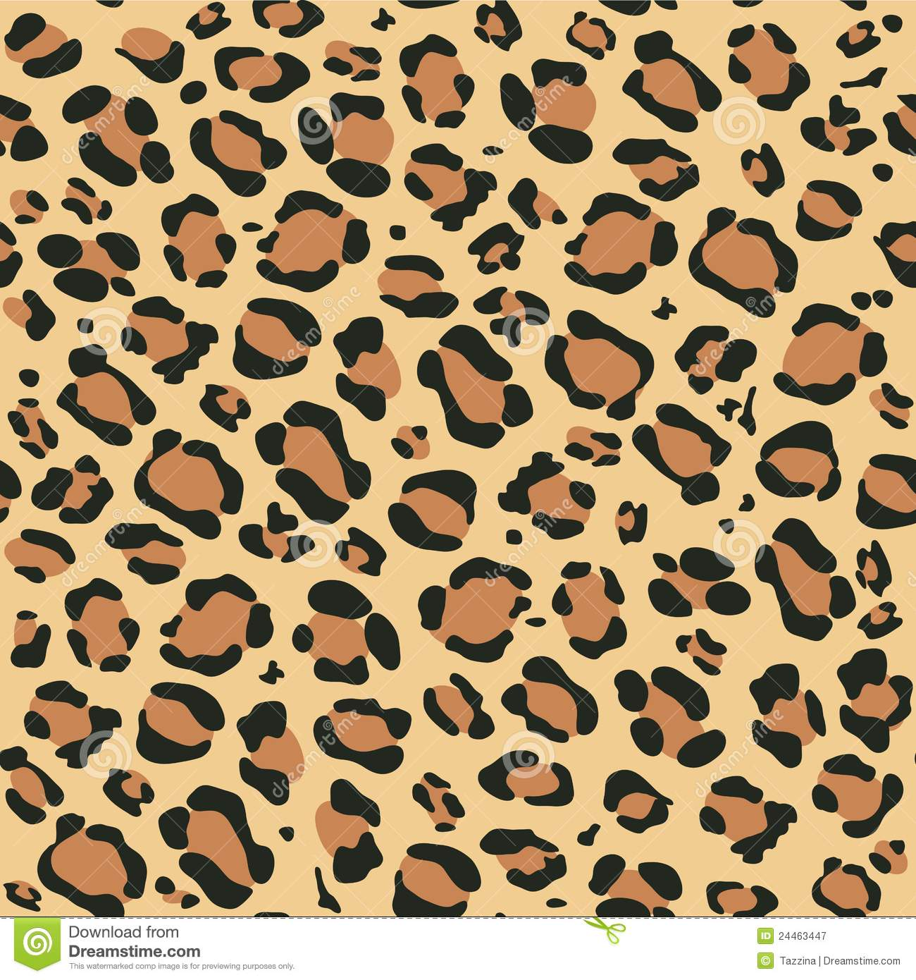 Leopard Pattern Stock Vector Image Of Hiding Leopard