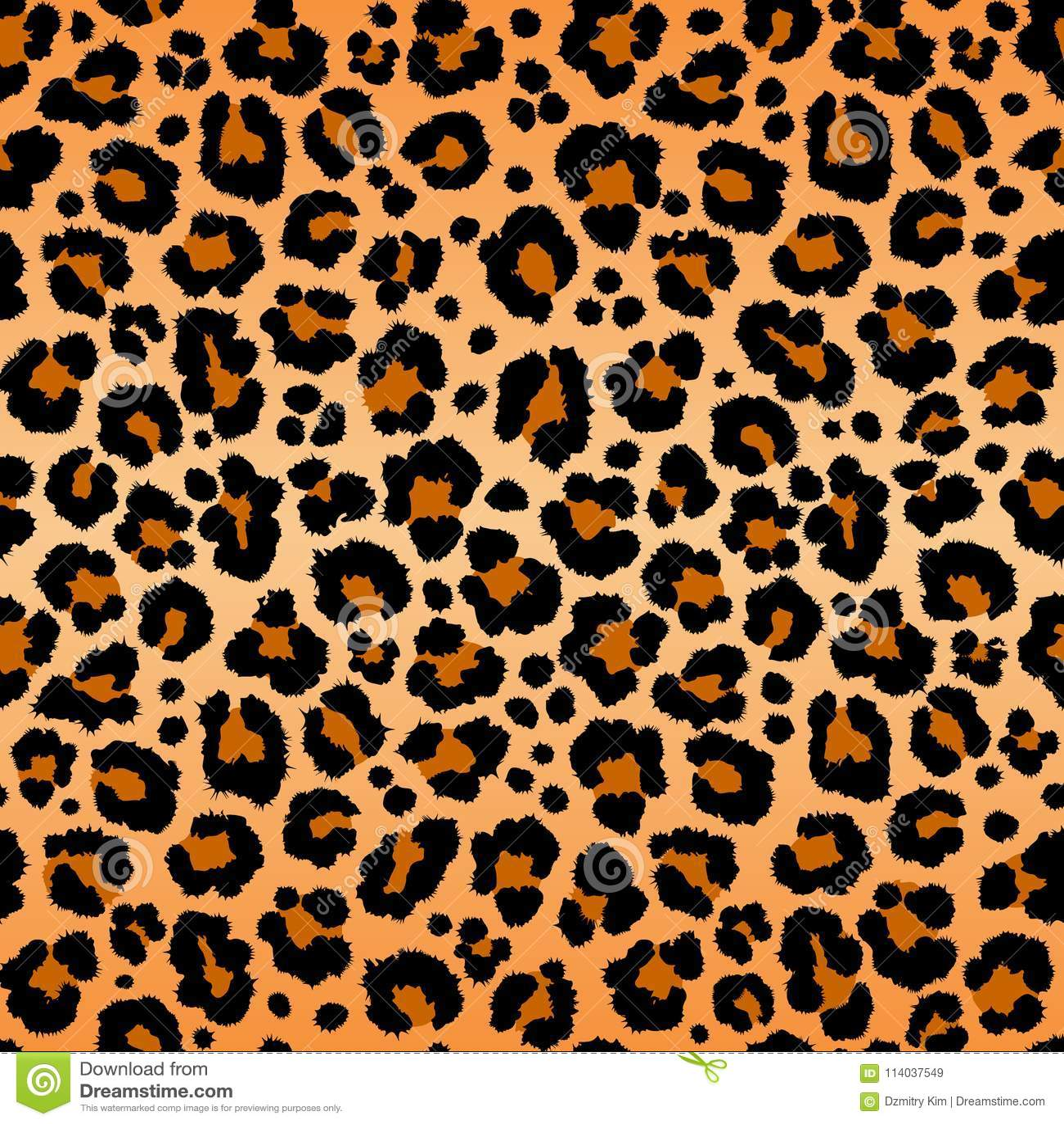 771bae9ca9ea Leopard pattern texture repeating seamless orange black fur print skin