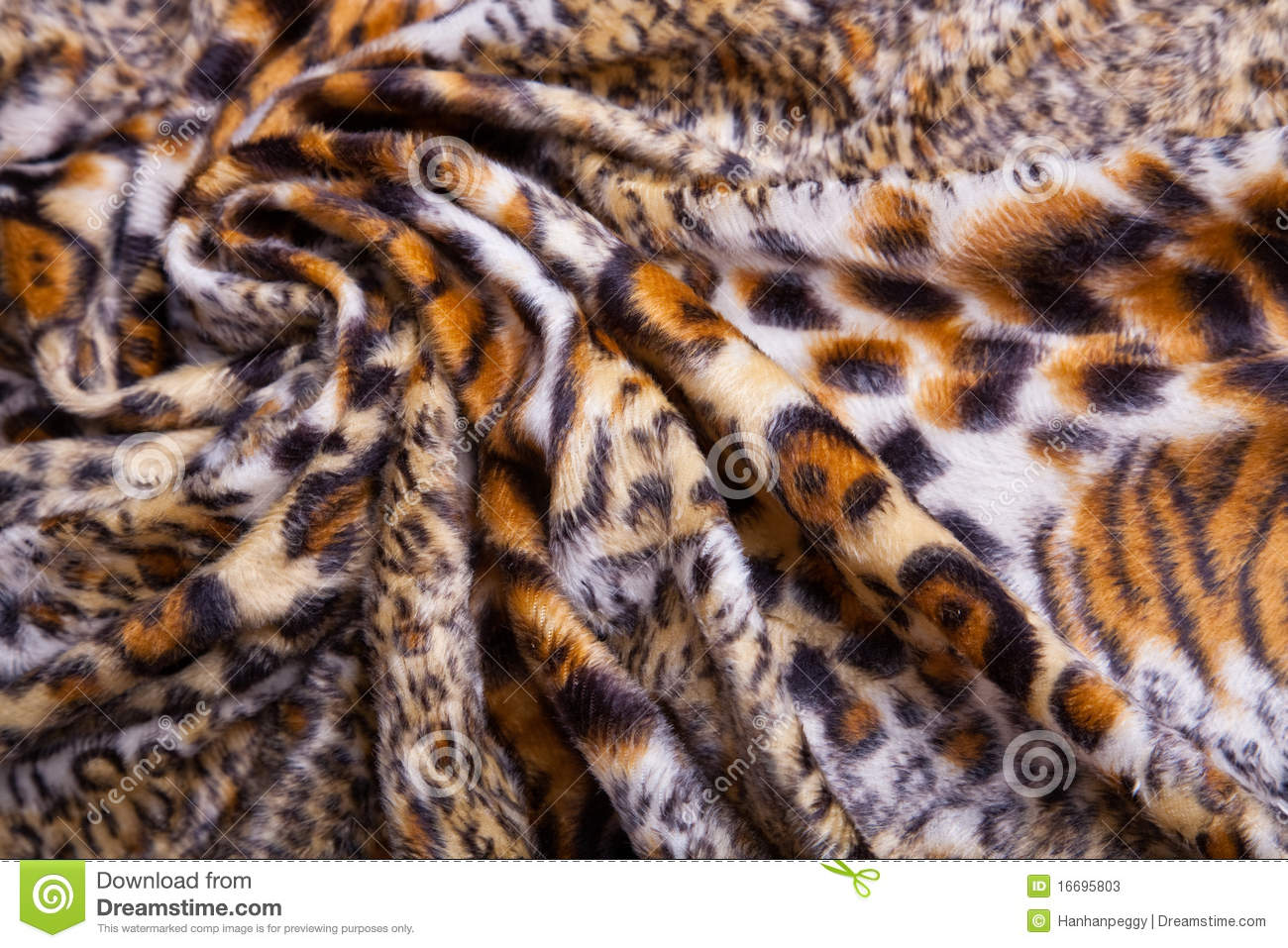 Leopard Print Fabric leopard print fabric stock photos - image: 16695803