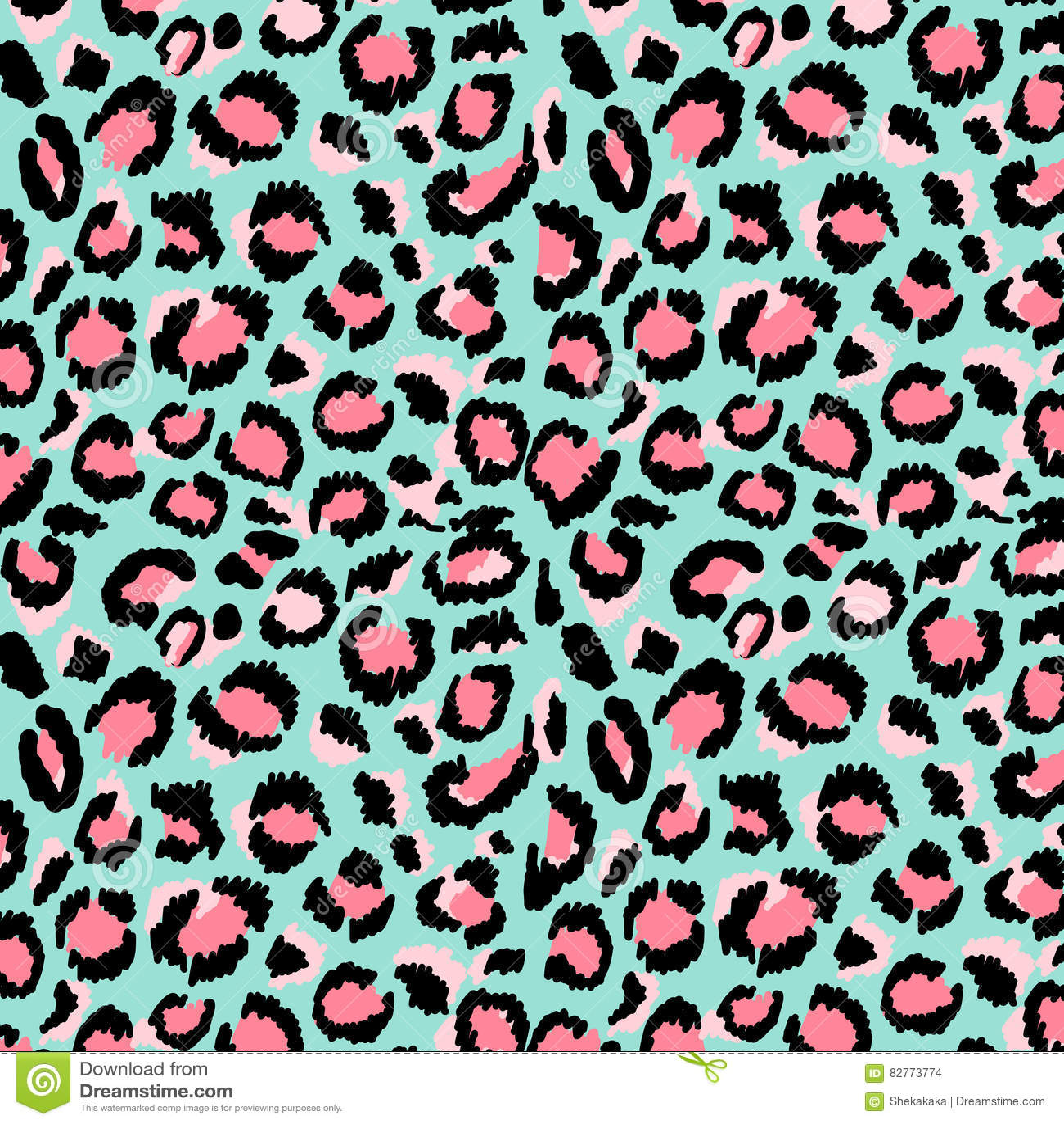 Leopard print stock illustration. Illustration of colorful - 82773774