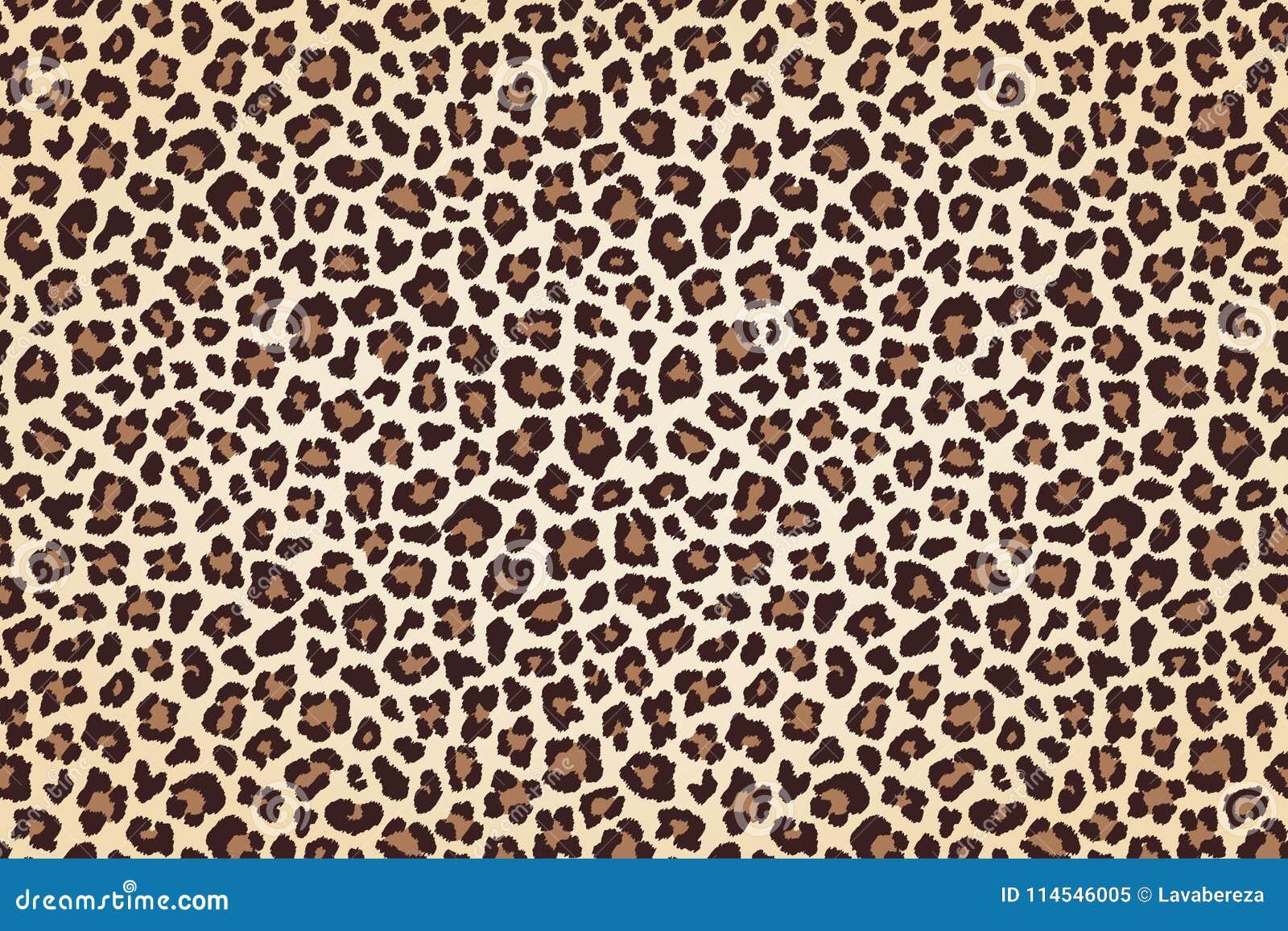 Leopardpelzdruck, horizontale Beschaffenheit mit dunklen Grenzen Vektor