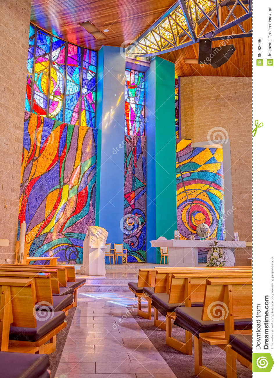 Famous Interior Paintings: Leopold Mandic Church In Melbourne Editorial Image