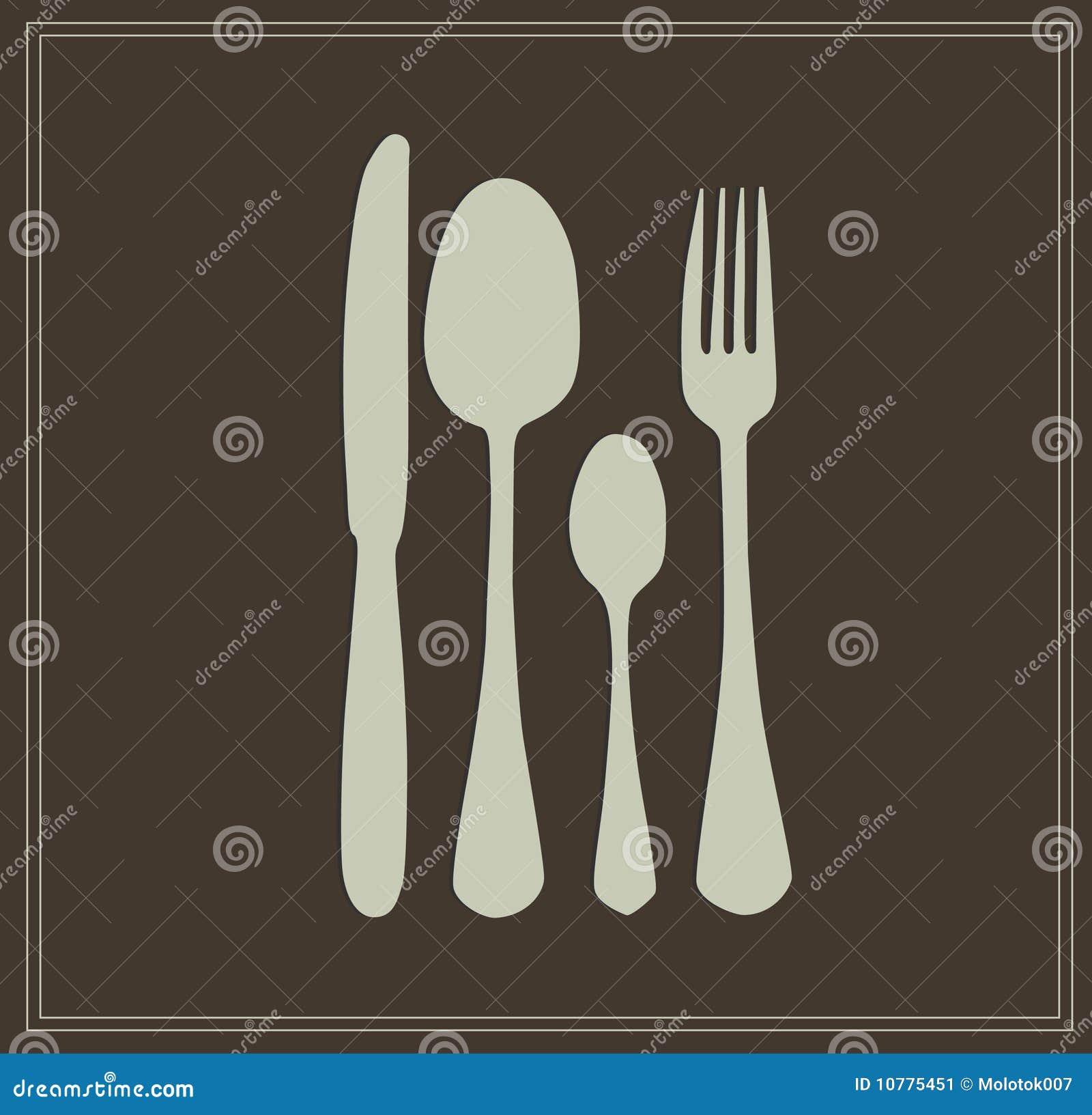 Lepel, mes en vork