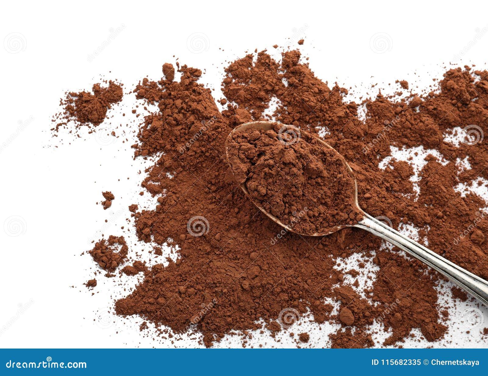 Lepel met cacaopoeder