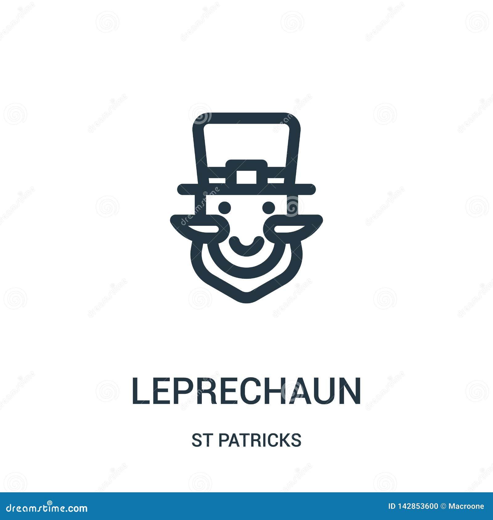 Leprechaun διάνυσμα εικονιδίων από τη συλλογή του ST patricks Η λεπτή γραμμή leprechaun περιγράφει τη διανυσματική απεικόνιση εικ