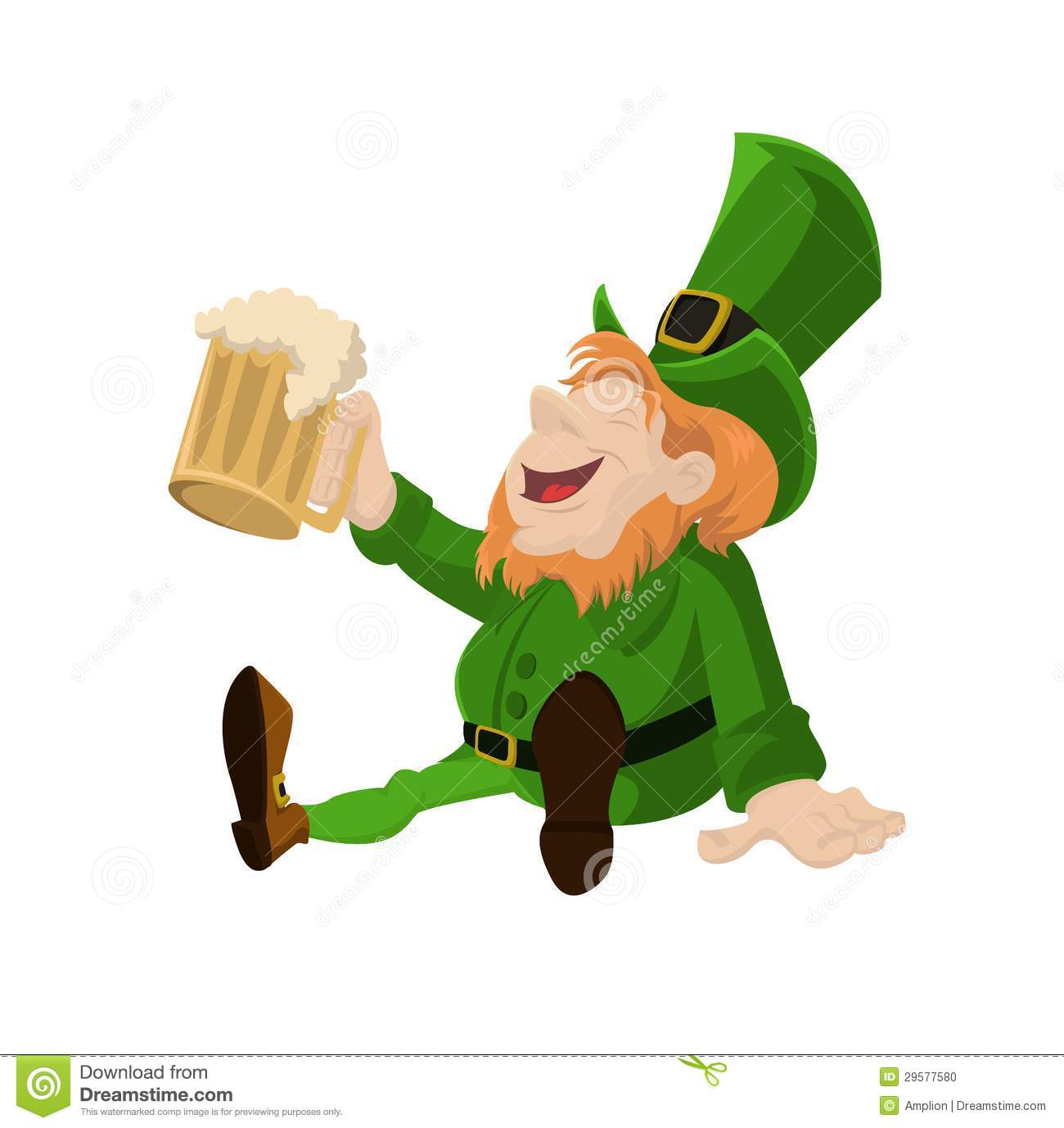 Leprechaun With Beer Stock Photo - Image: 29577580