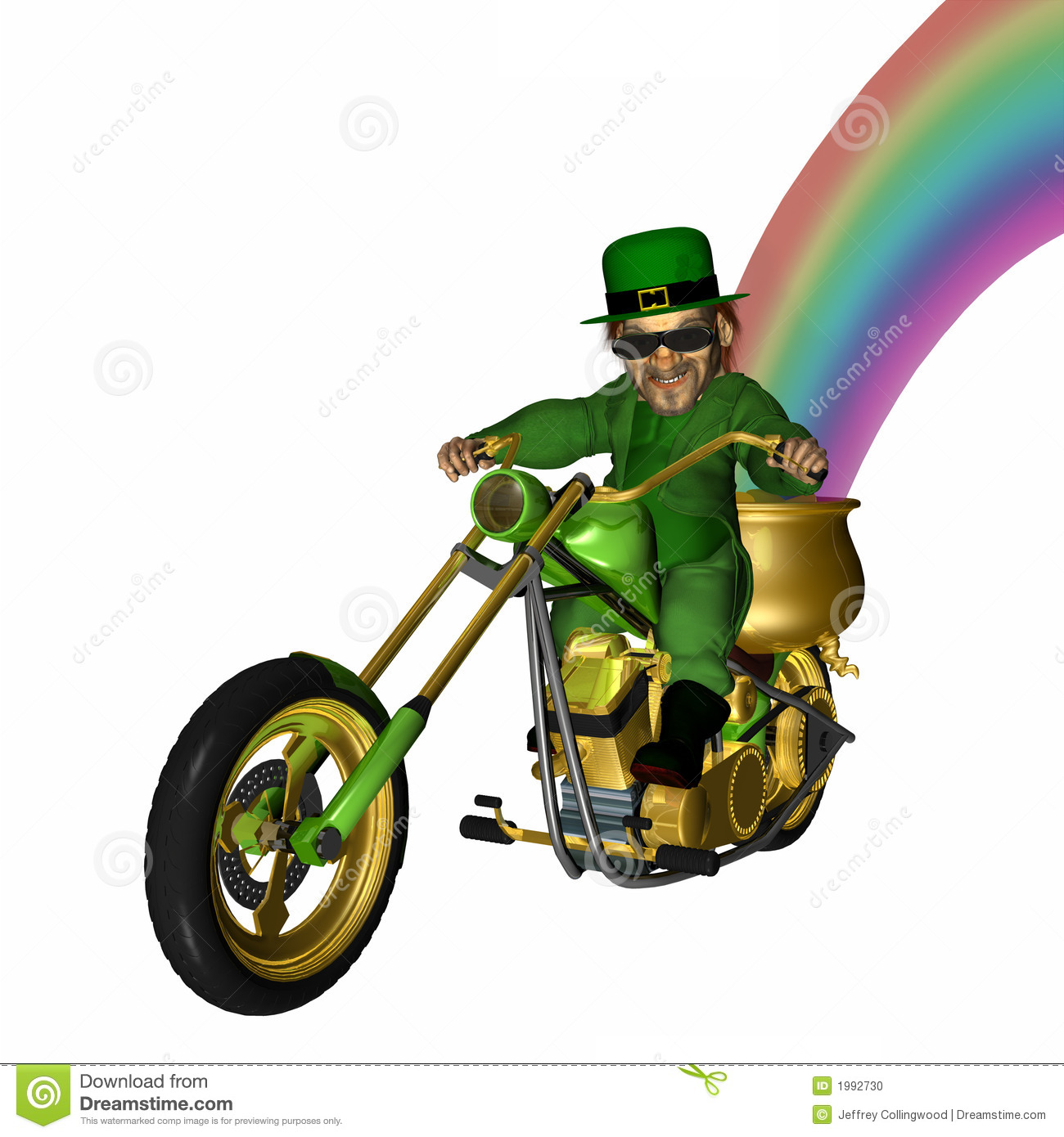 Leprechaun looking cool with a bit of an attitude on his green and ...