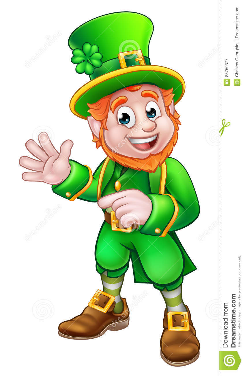 Leprechaun do dia de Patrick de Saint