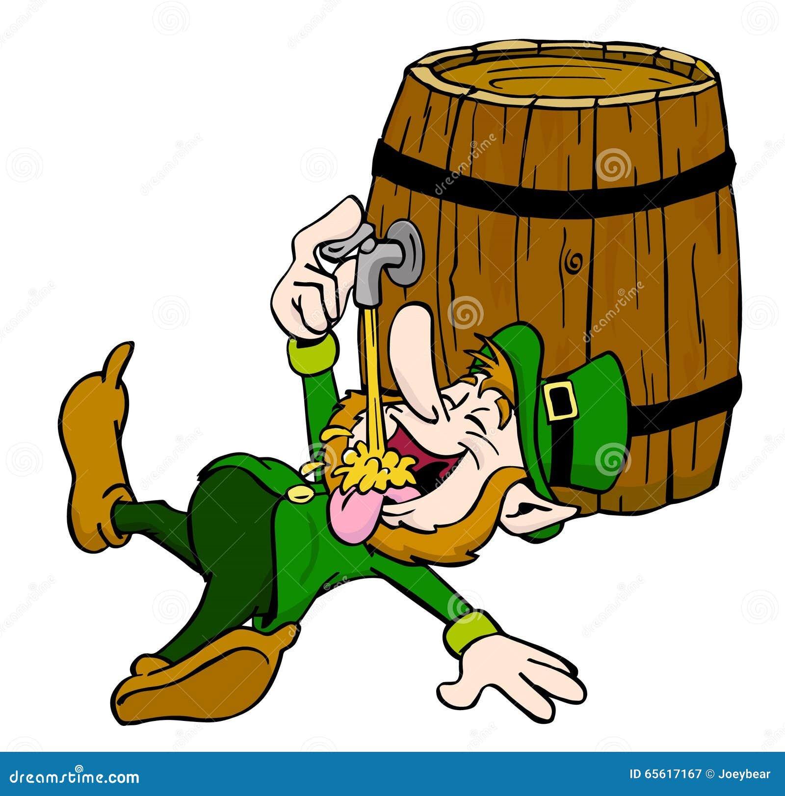 Leprechaun Drinking stock illustration. Illustration of ...
