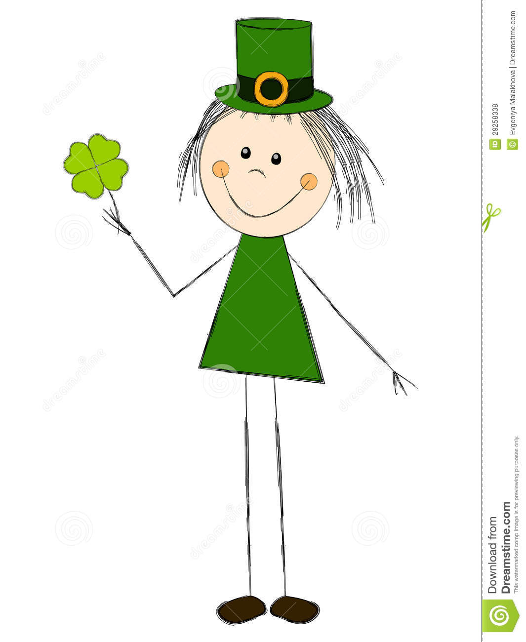 Leprechaun Girl Royalty Free Stock Photos - Image: 29258338