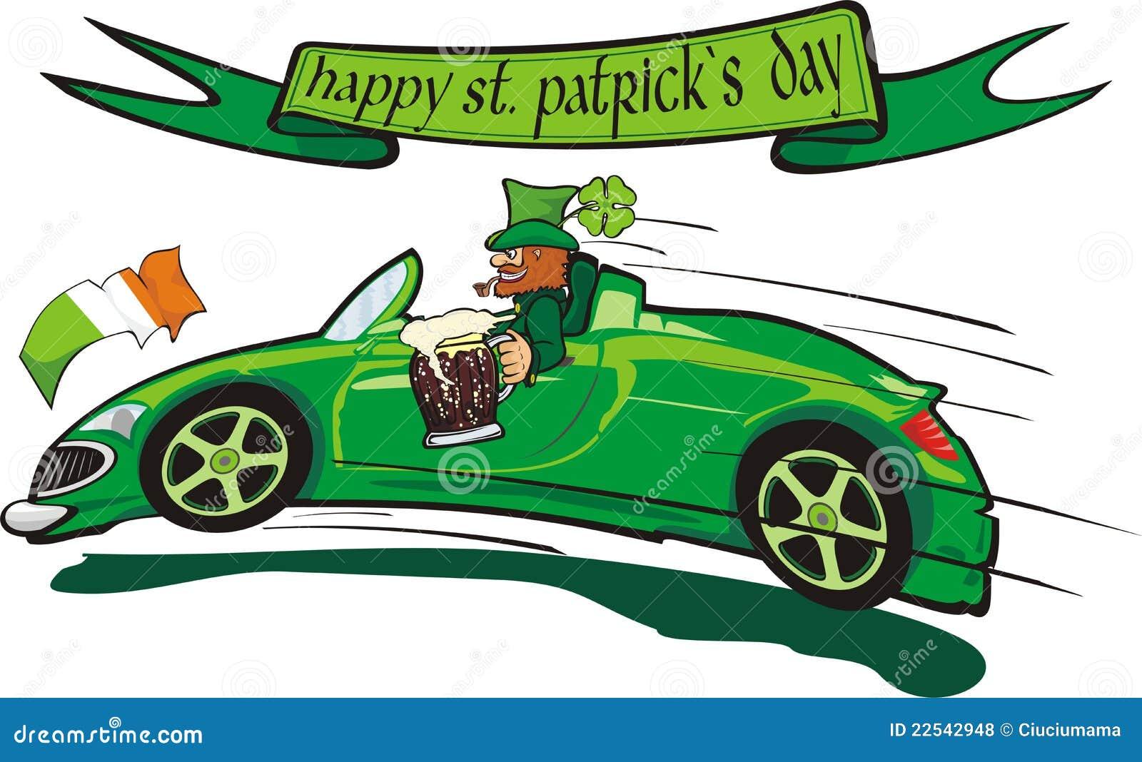 Leprechaun And Happy St Patricks Day Royalty Free Stock