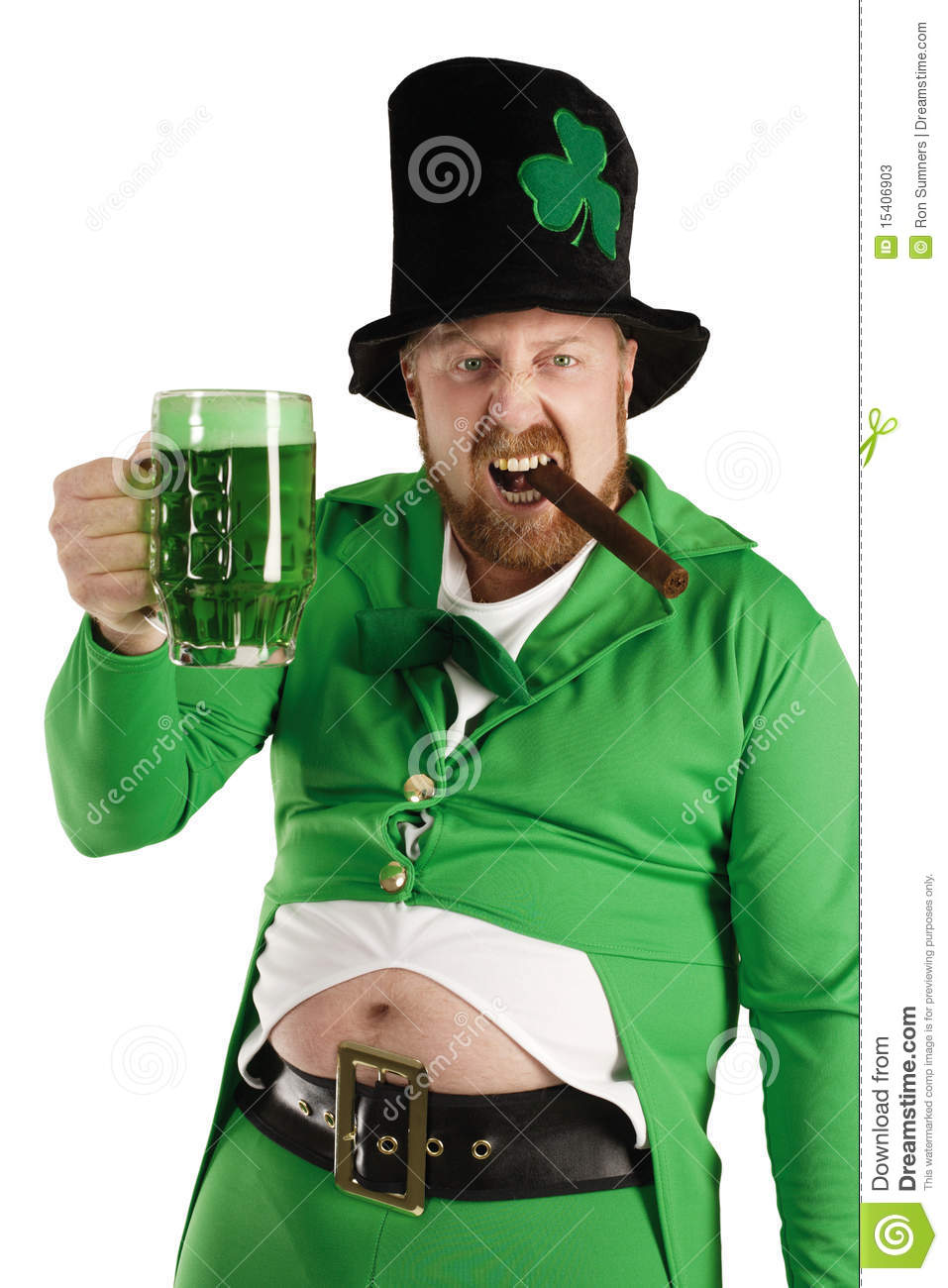 Irish Blessings Leprechaun-hoisting-green-beer-15406903