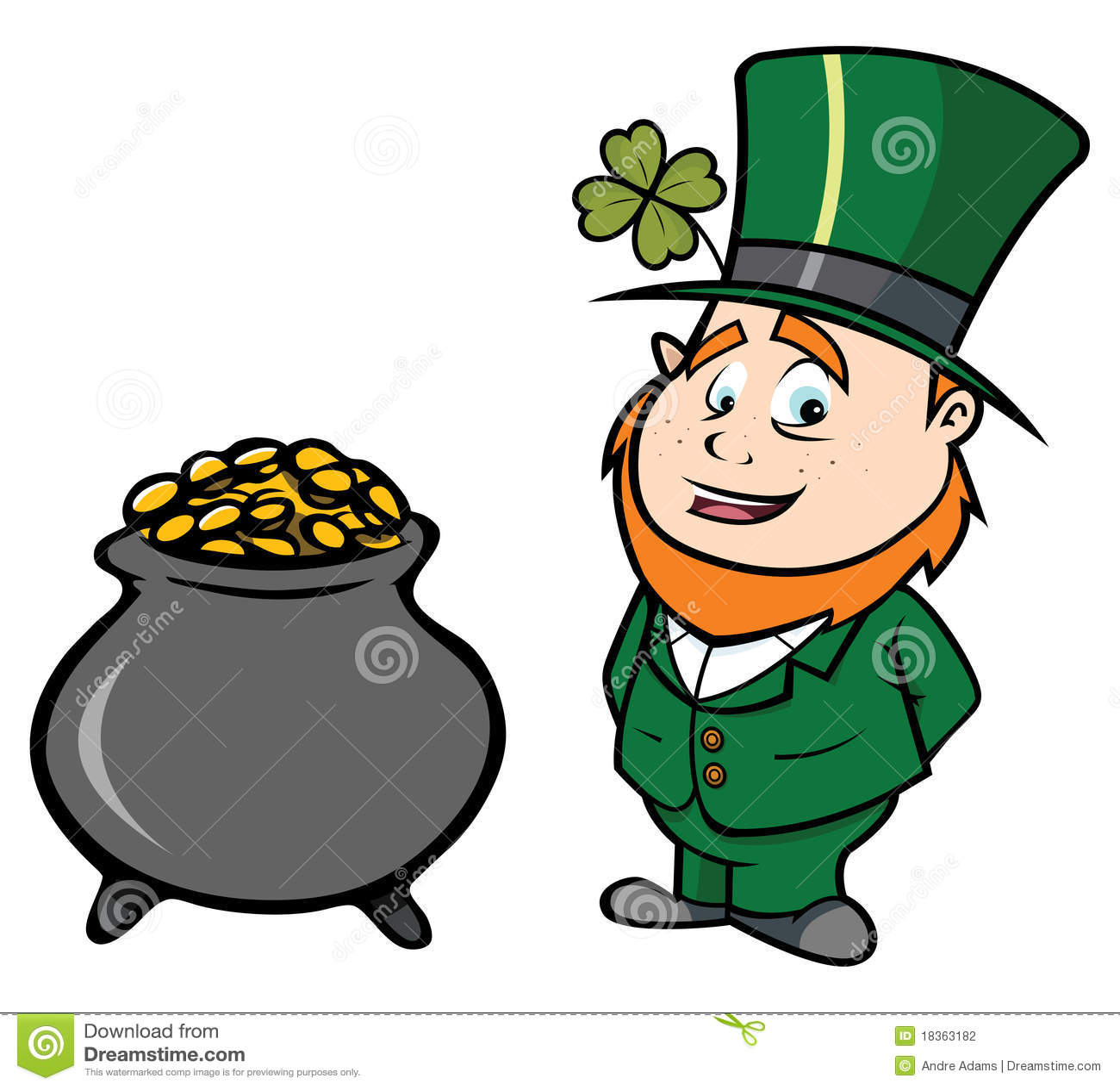 Leprechaun pot of gold stock vector. Illustration of ...