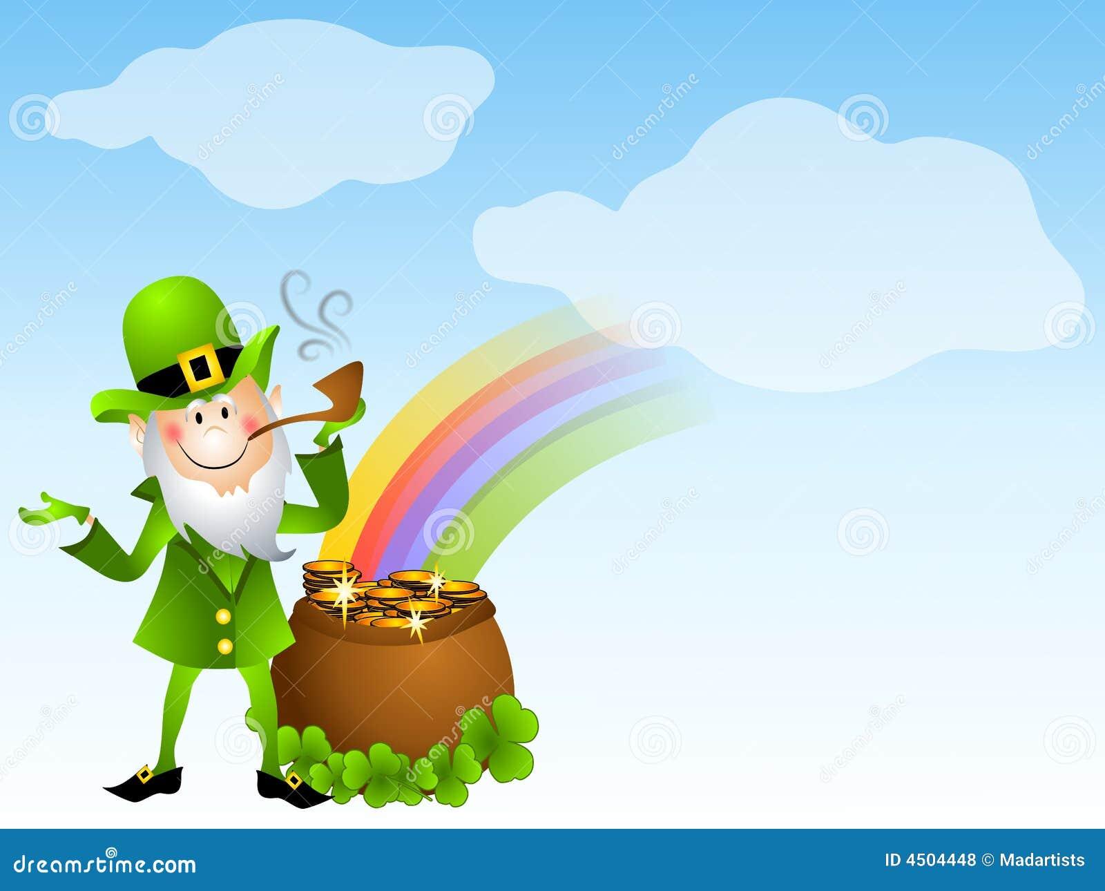 Uncategorized Leprechauns And Rainbows leprechaun and pot of gold royalty free stock photos image 4504448 photo