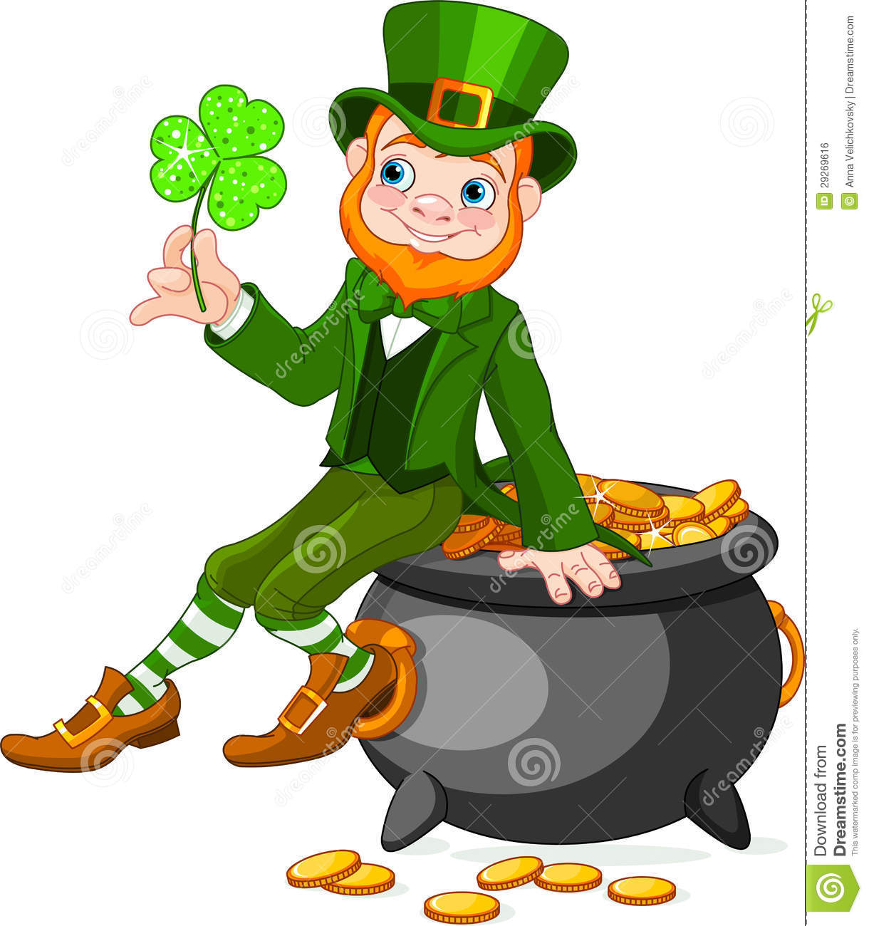 Leprechaun Pot Of Gold Coloring Pages Printable together with Cauldron ...