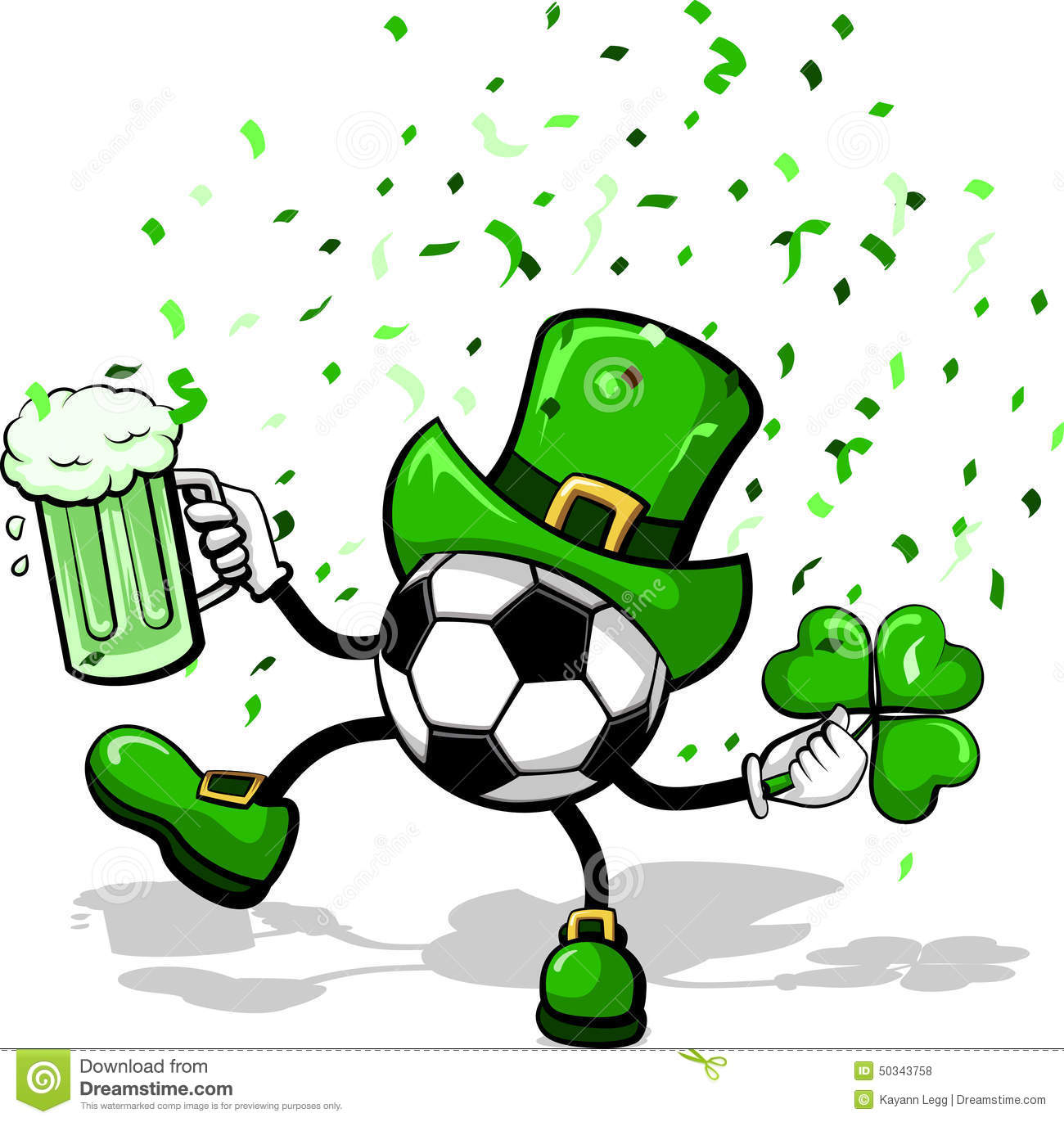 Leprechaun Soccer Or Football Stock Vector Illustration