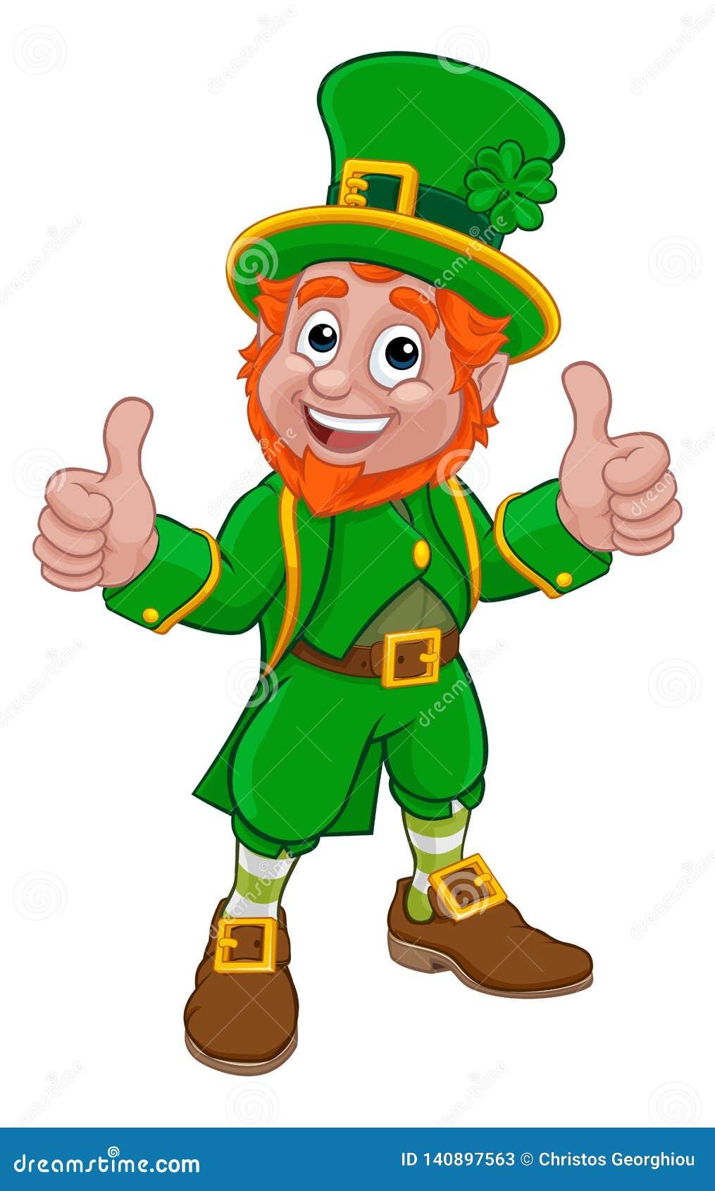 Leprechaun St Patricks Day Cartoon Character Stock Vector ...