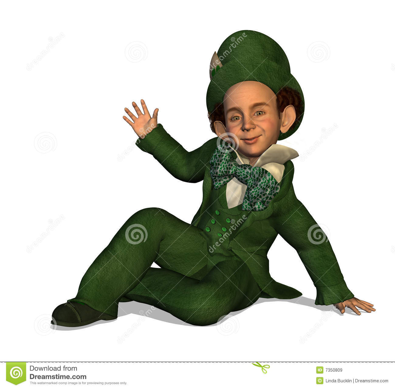 Leprechaun Waving Royalty Free Stock Images - Image: 7350809