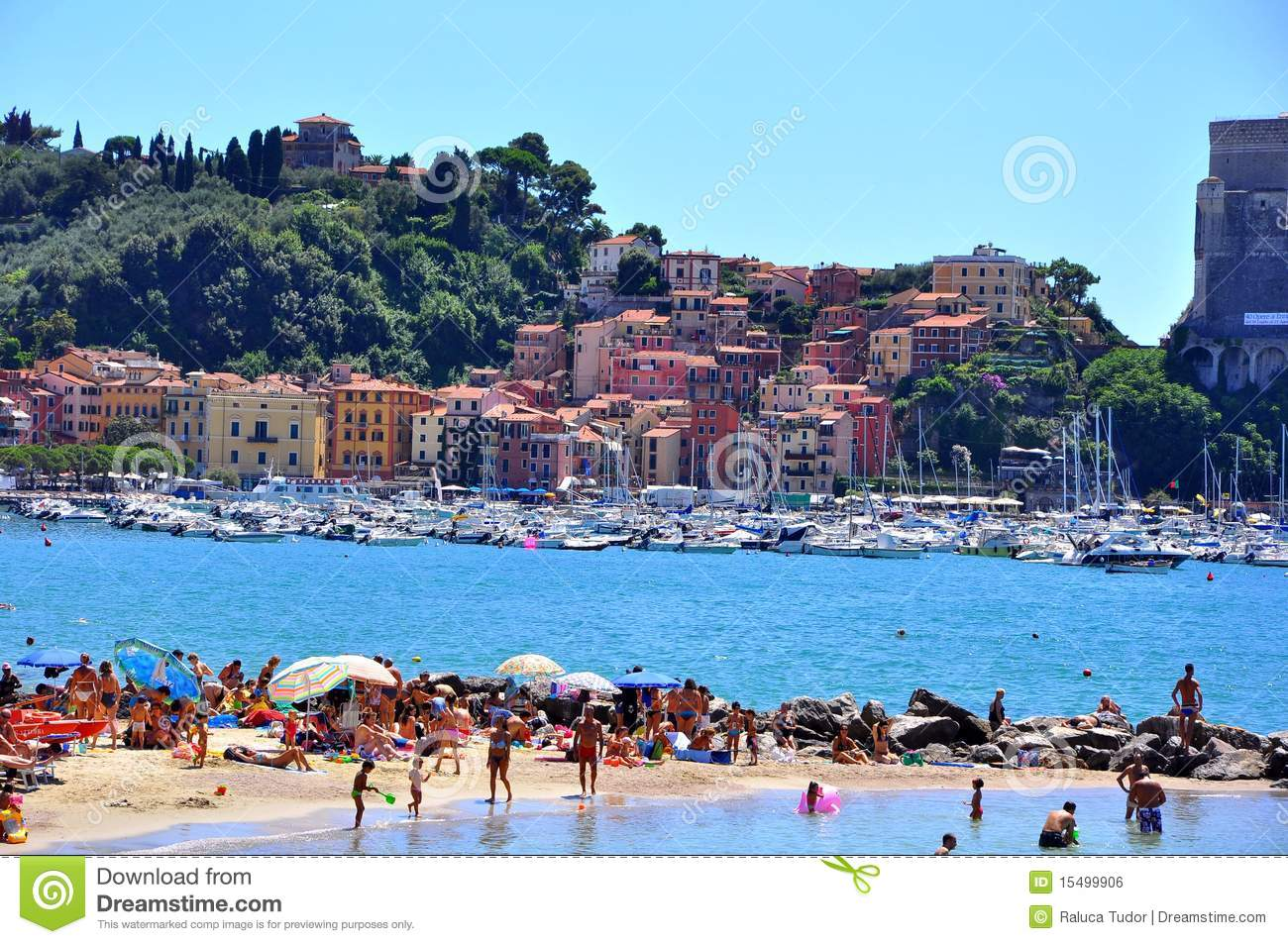 Lerici Italy  city photos gallery : Lerici Beach In Italy Editorial Photo Image: 15499906