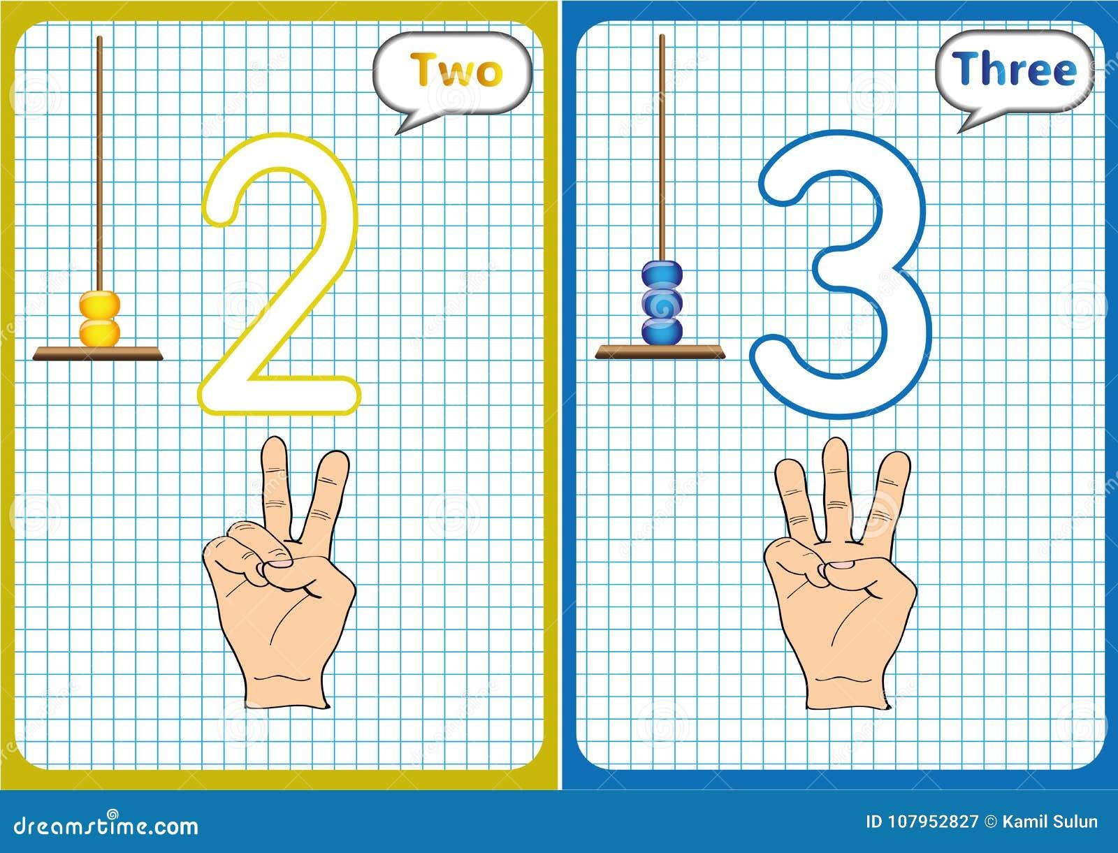 Lernen Die Zahlen 0-10, Flash-Karten, Pädagogische ...