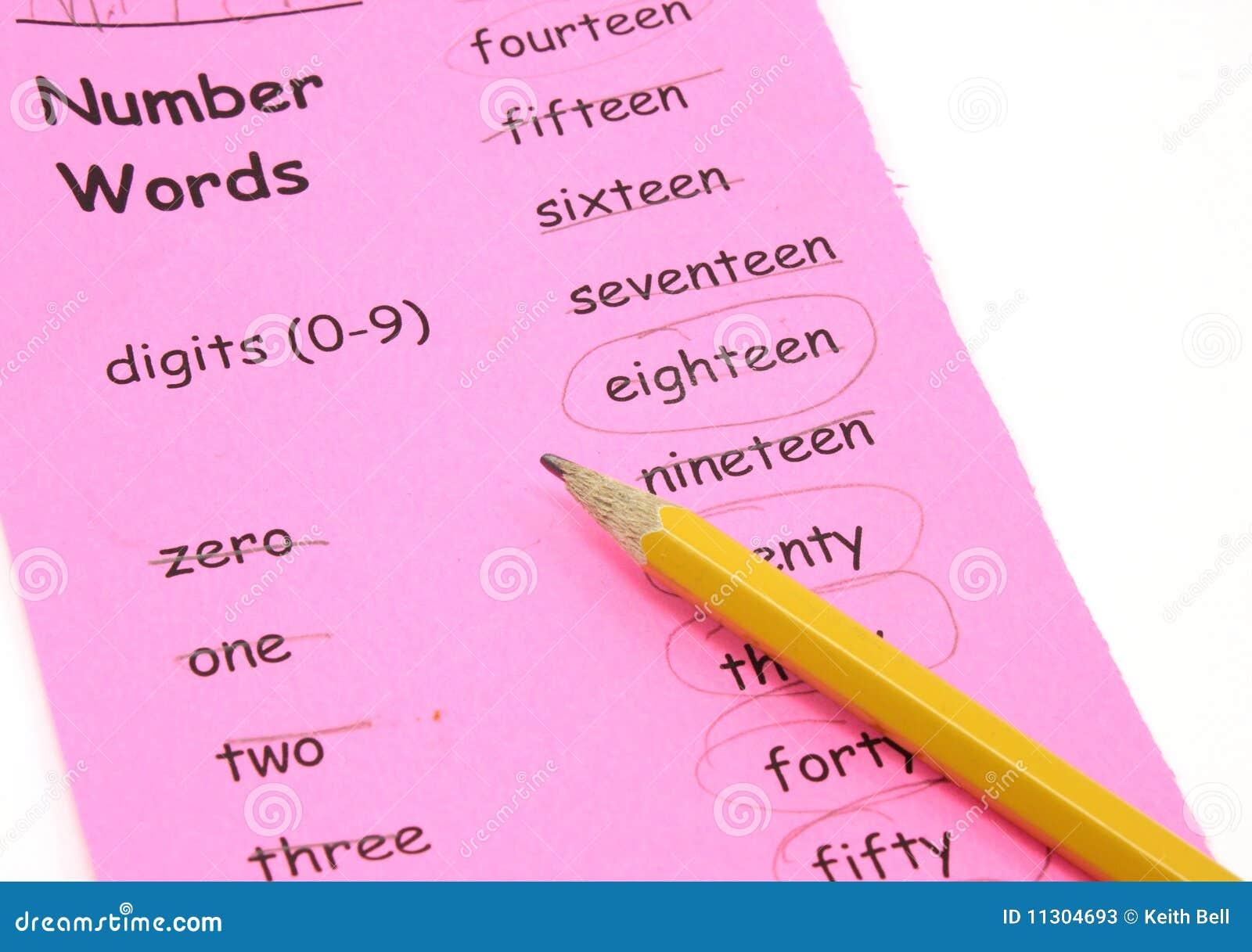 Lernen Ihrer Zahlwörter