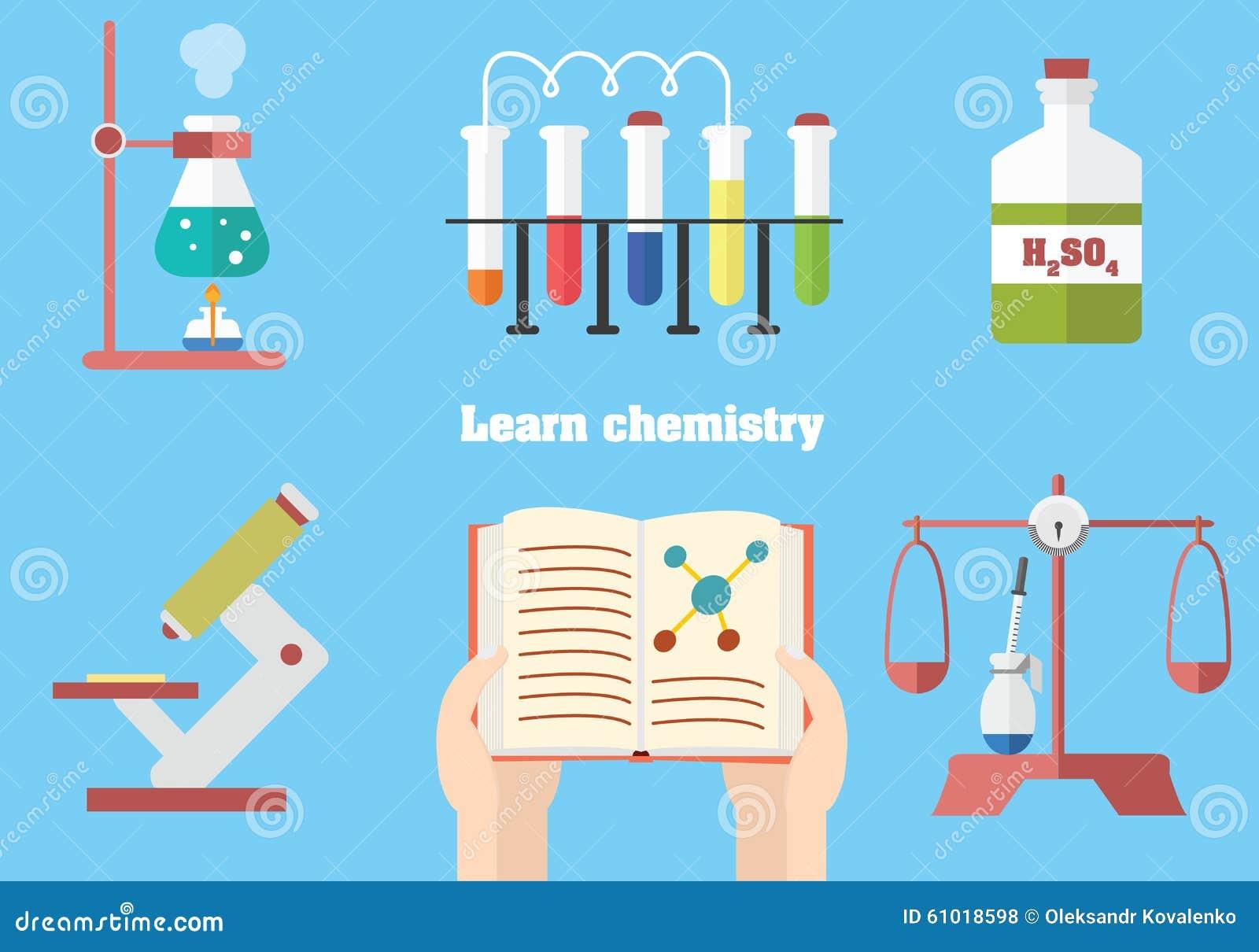 lernen sie chemie mit begriffsillustration vektor abbildung bild 61018598. Black Bedroom Furniture Sets. Home Design Ideas