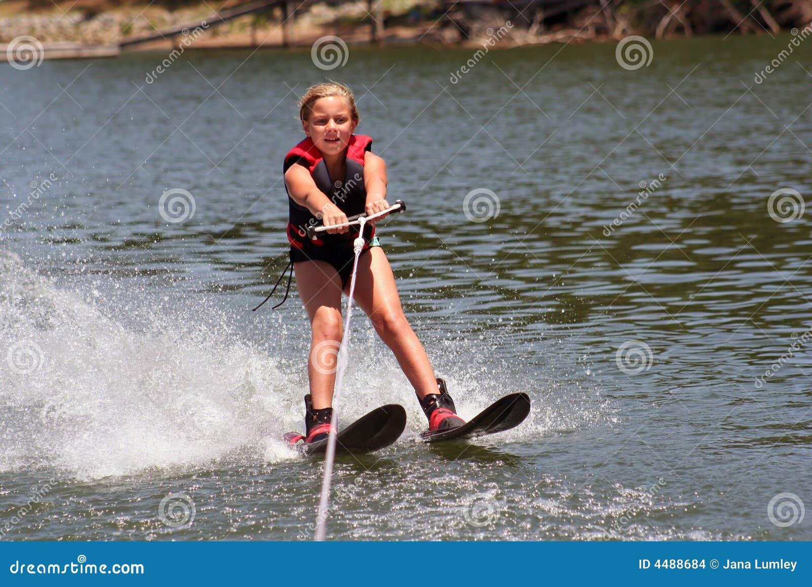 Lernen Ski zu fahren