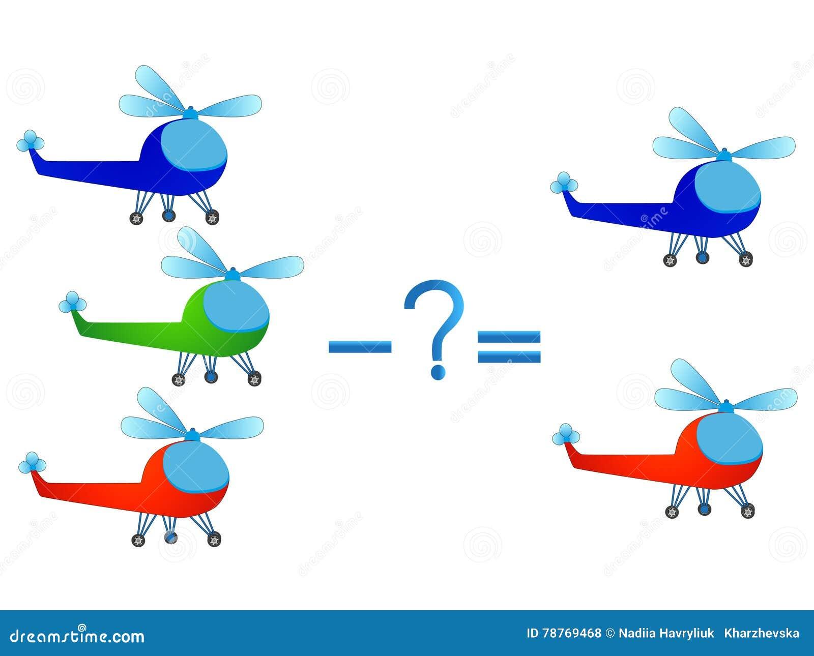 Lernspiel Für Kinder, Illustration Des Mathematischen Abzugs ...