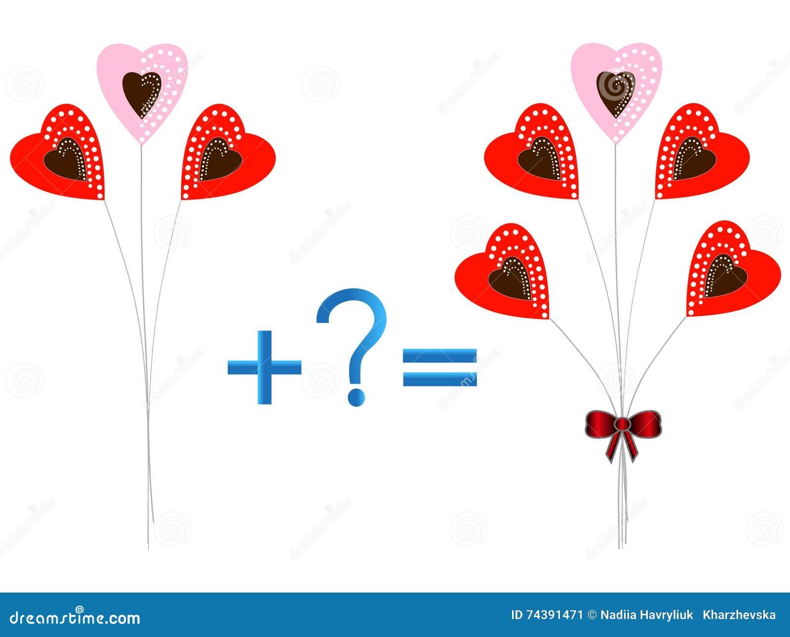 Lernspiel Für Kinder, Illustration Des Mathematischen Zusatzes ...