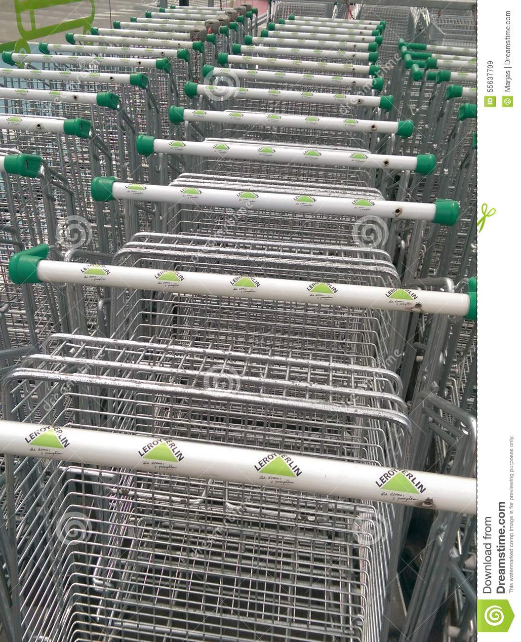 Leroy Merlin Trolley Editorial Stock Image Image Of Line
