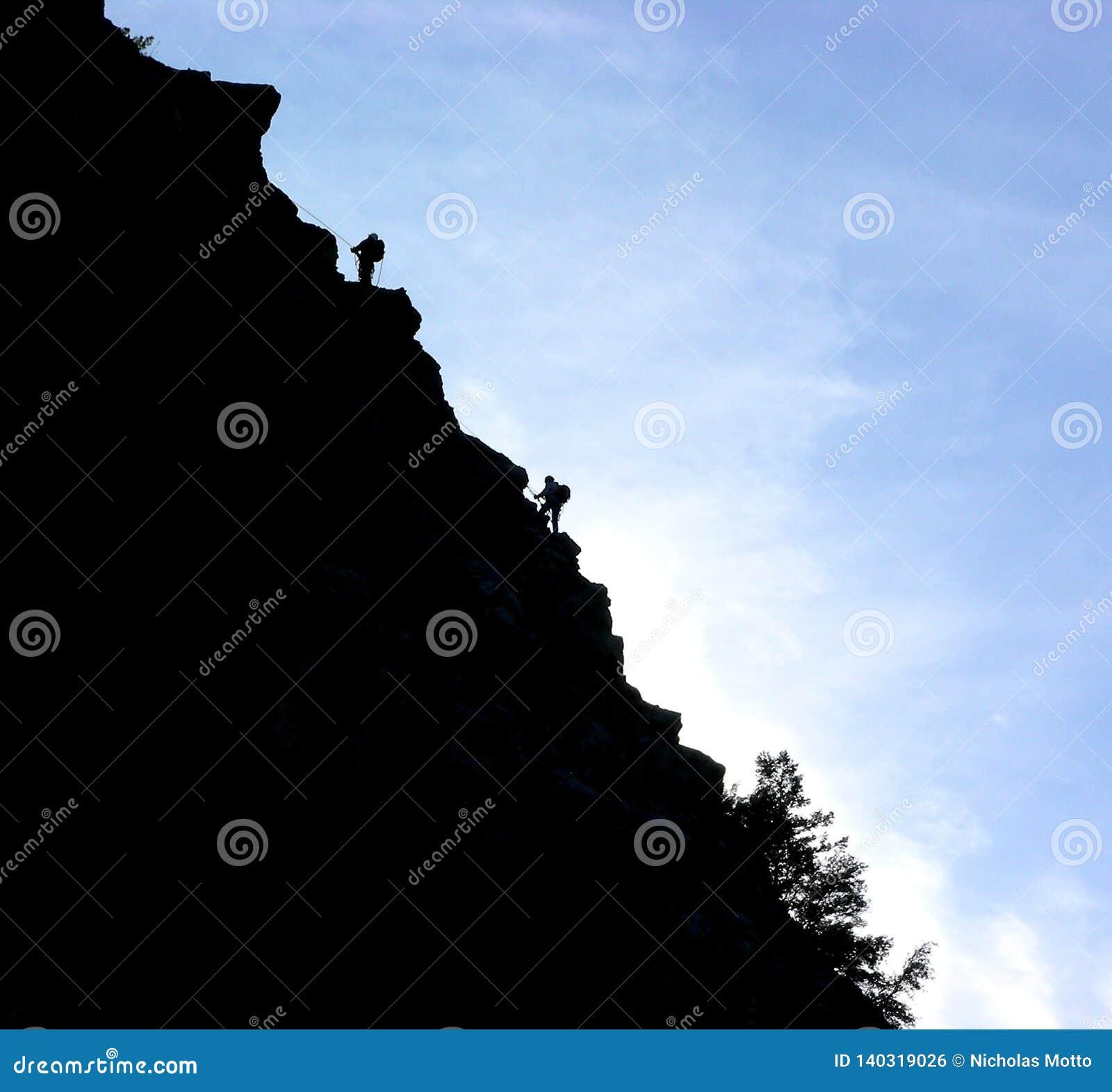 Les écailleurs de roche silhouettent