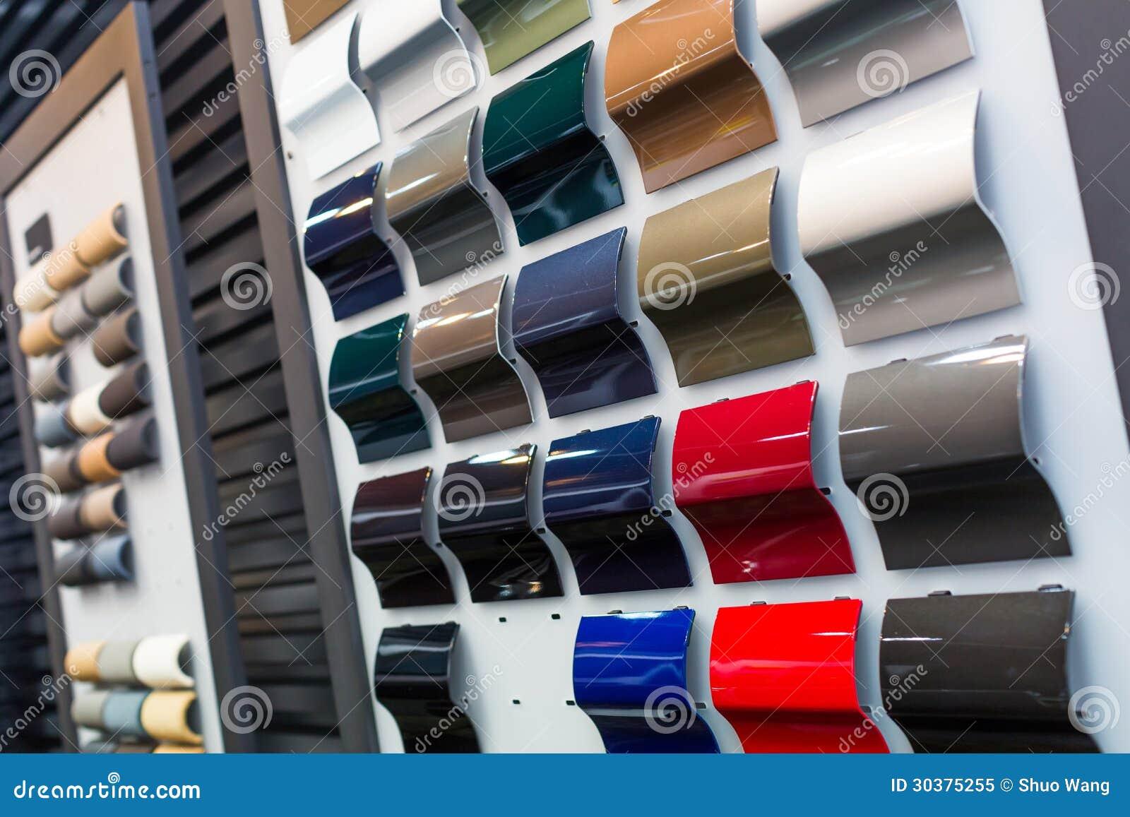 Chantillons De Peinture De Voiture Image Stock Image Du D Corez