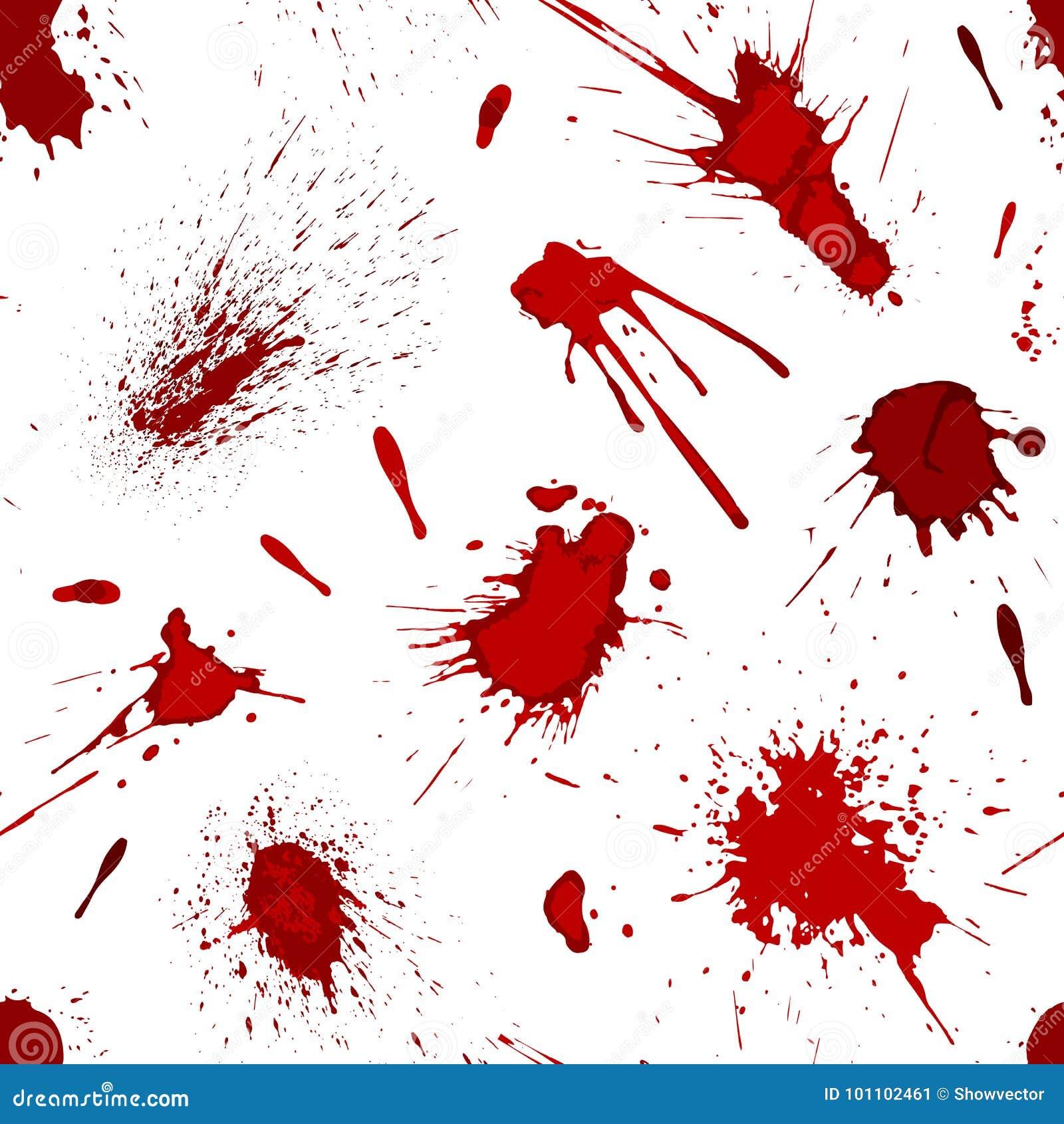 Les éclaboussures rouges de sang ou de peinture éclaboussent l illustration sans couture de vecteur de fond de modèle de tache