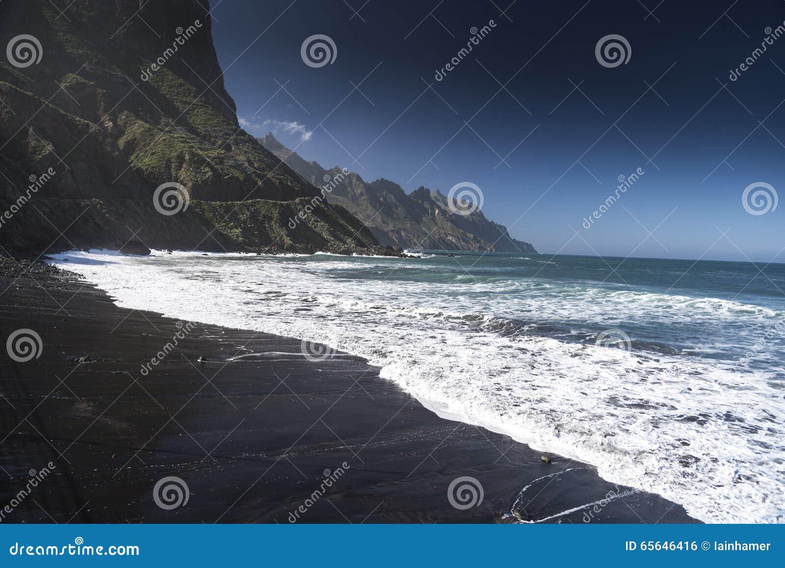 Les Îles Canaries de Playa Taganana Ténérife