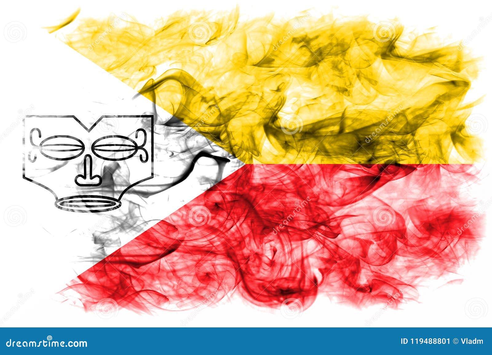Les îles de Marquesas fument le drapeau, îles en français la Polynésie française