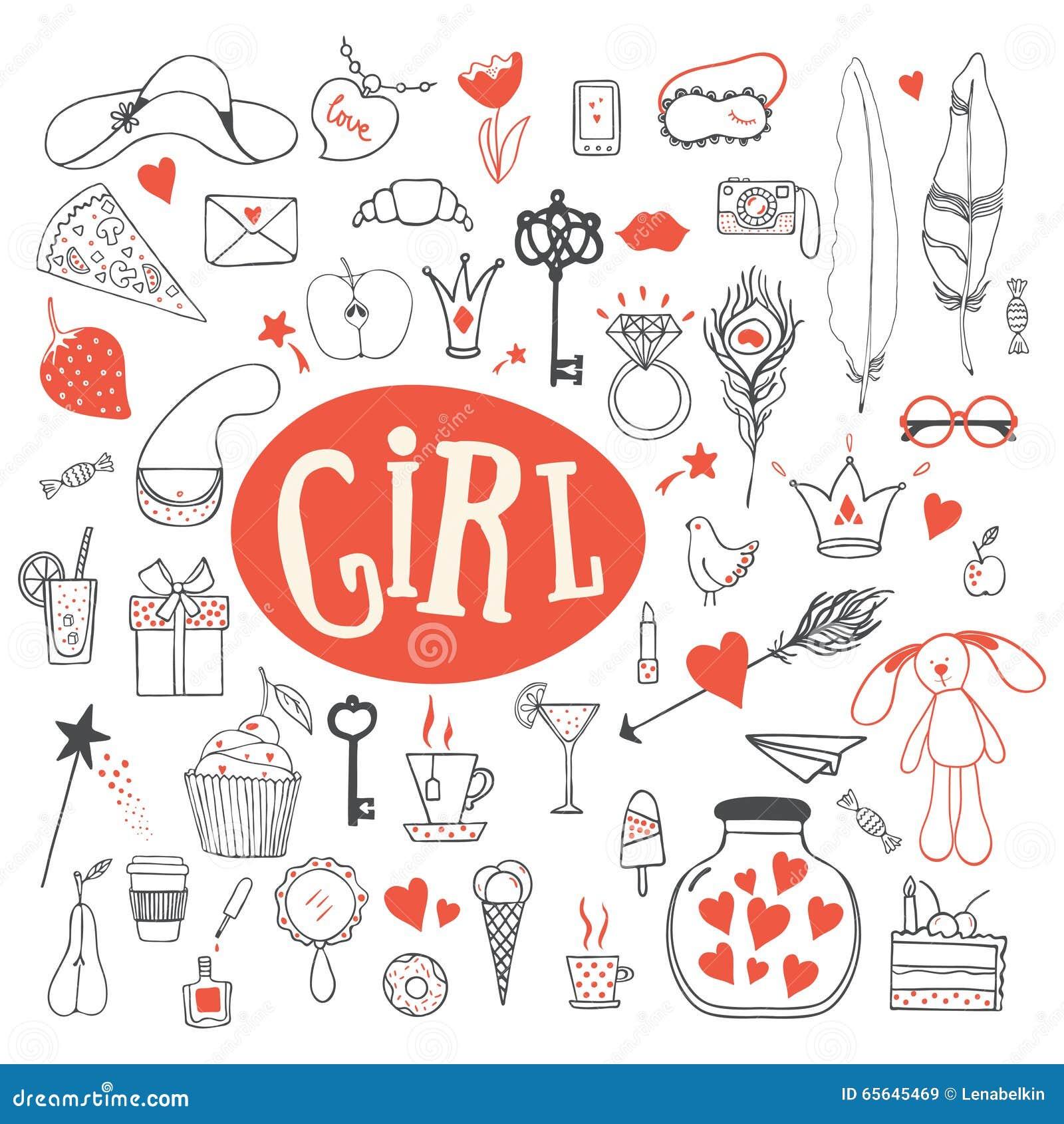 Les accessoires de la fille