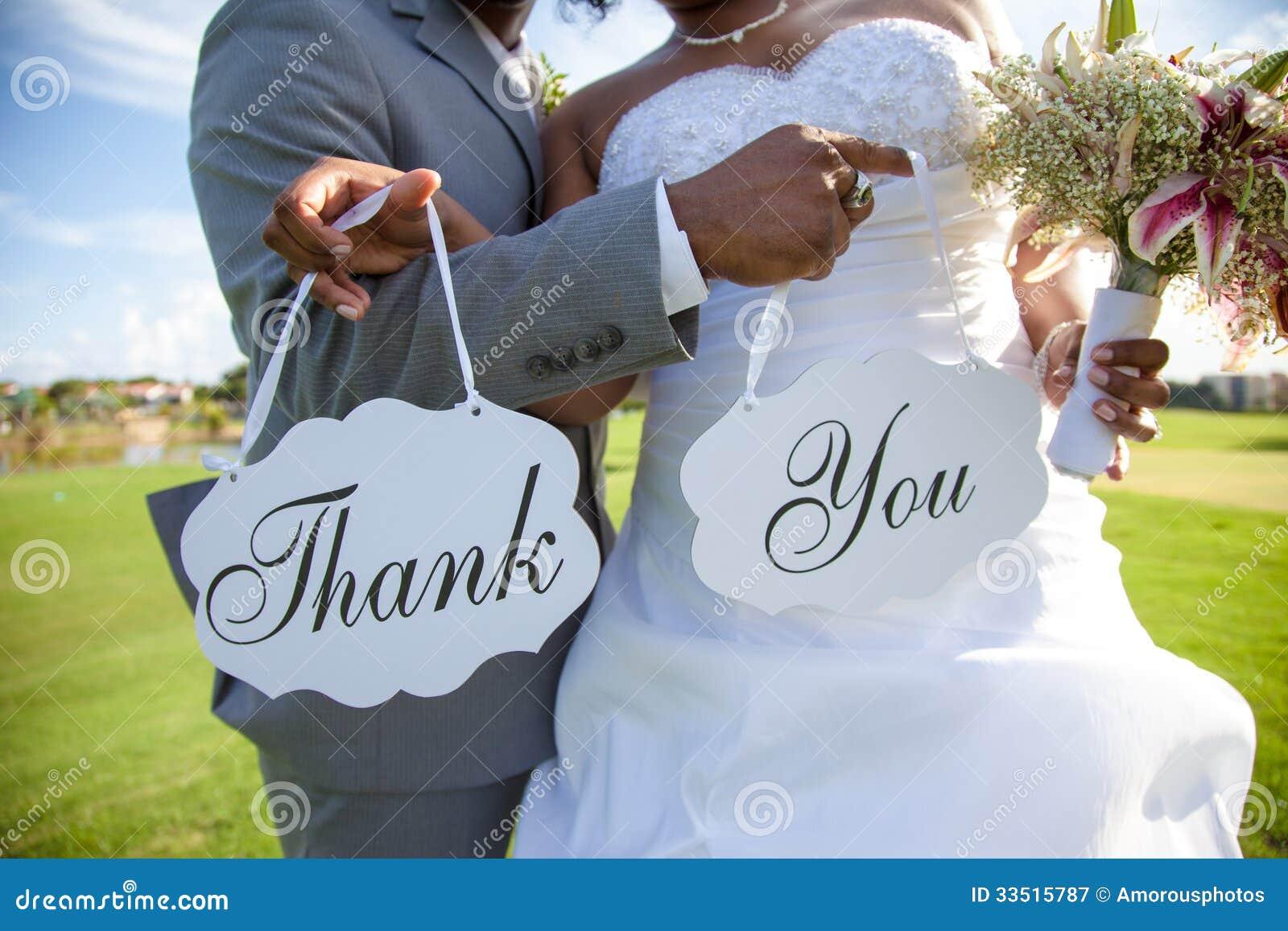 Les ajouter de nouveaux mariés au au remerciement vous signer