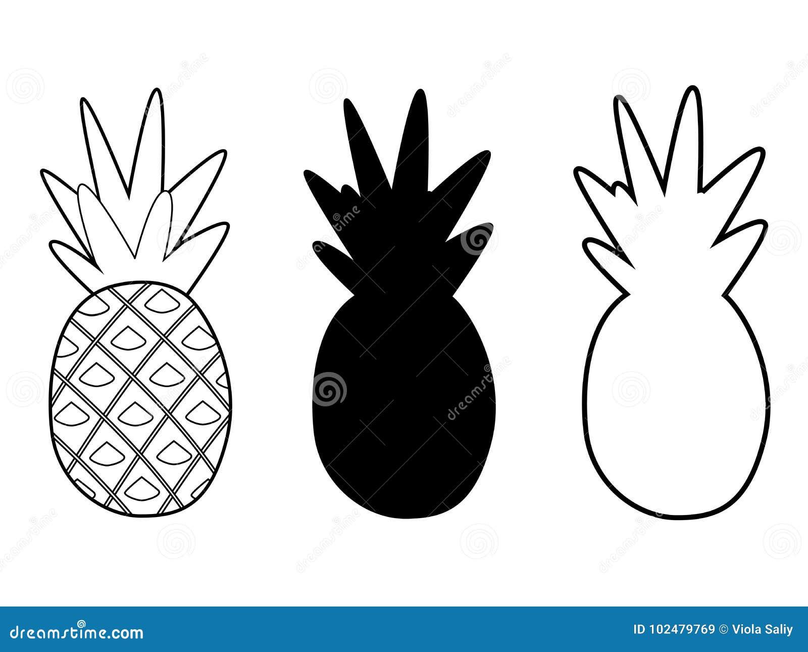 Les ananas ont placé différent
