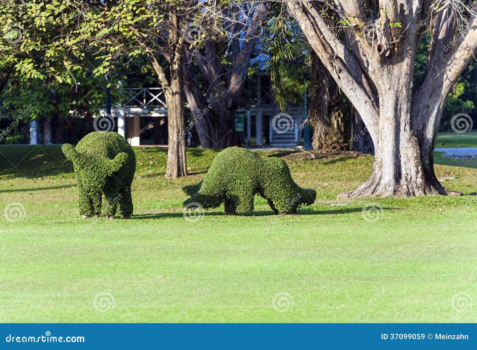 Les animaux ont form hors d 39 une haie dans le jardin du - Les animaux du jardin ...