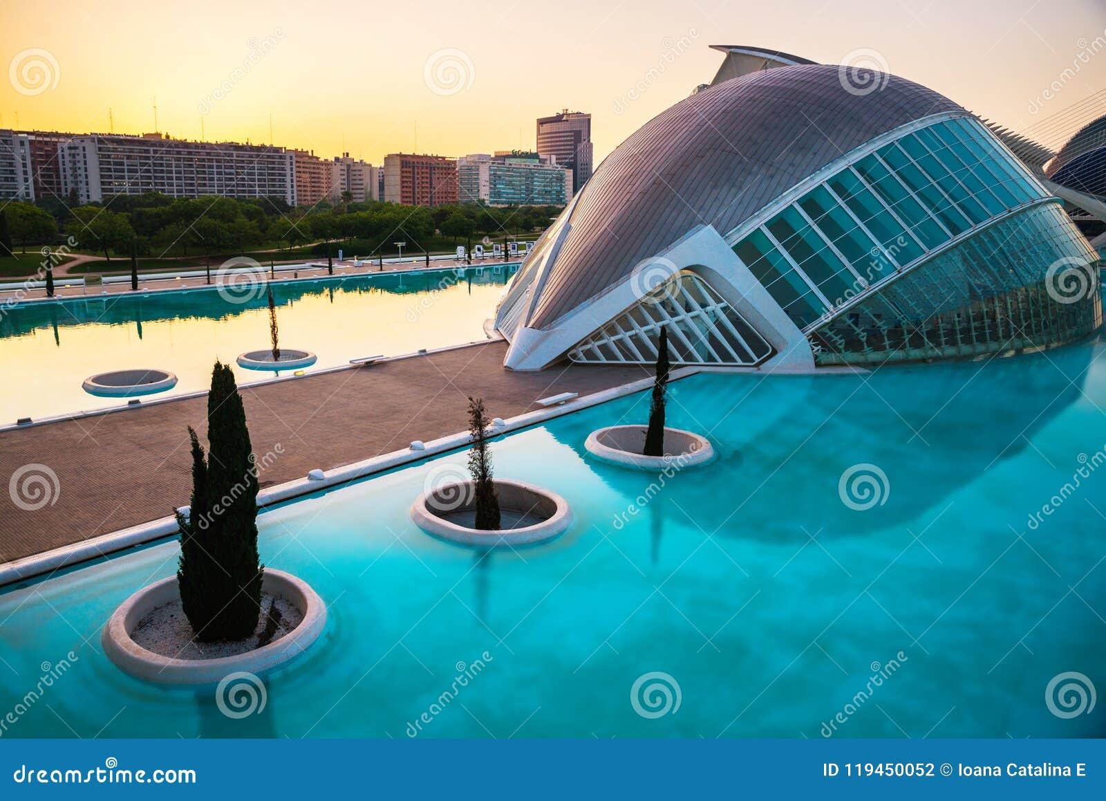 Les arts mettent en boîte la ville de l hemisferic les Palau que les sciences de reina voient Sofia