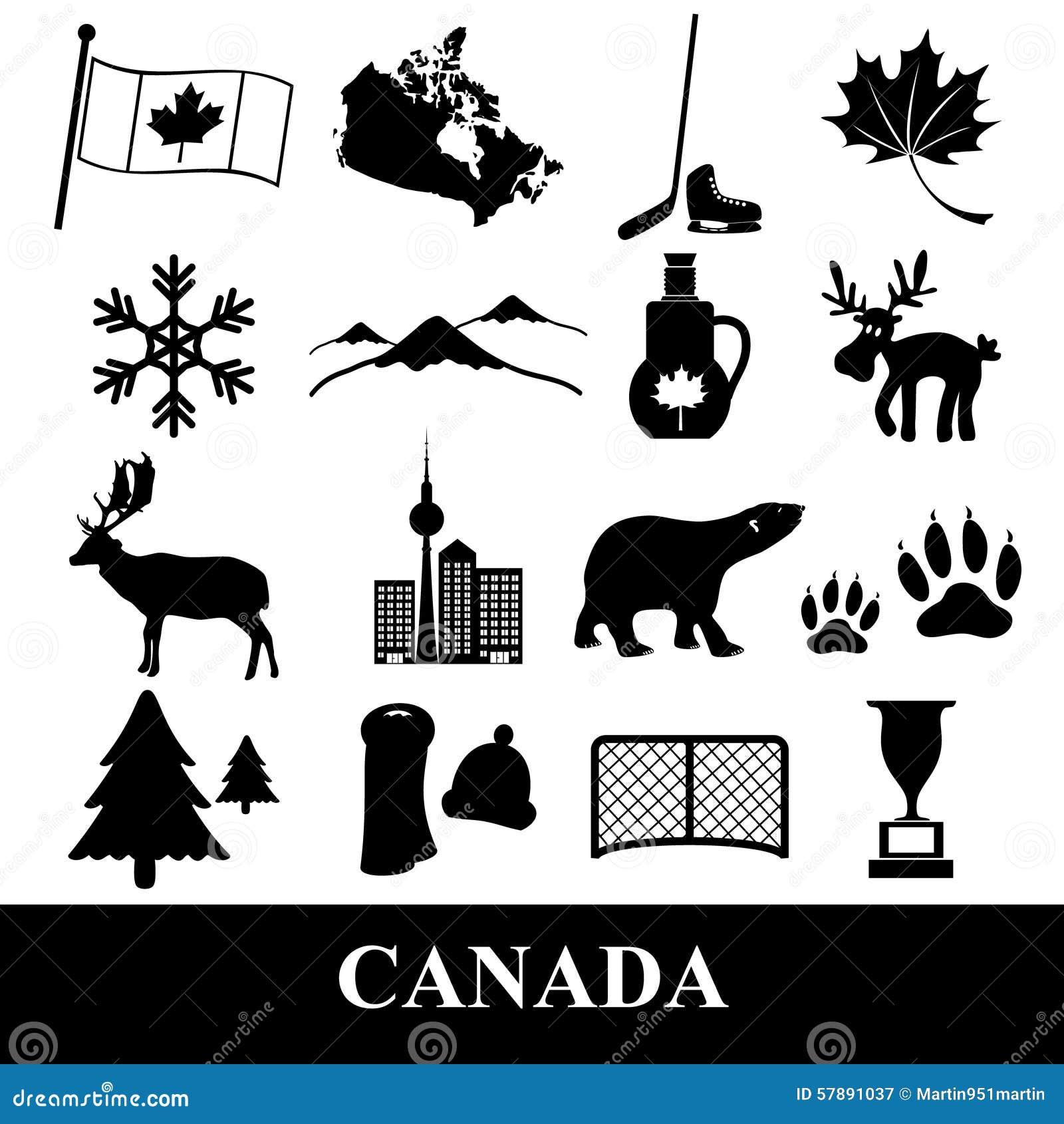 Les Autocollants De Symboles De Thème De Pays De Canada ...