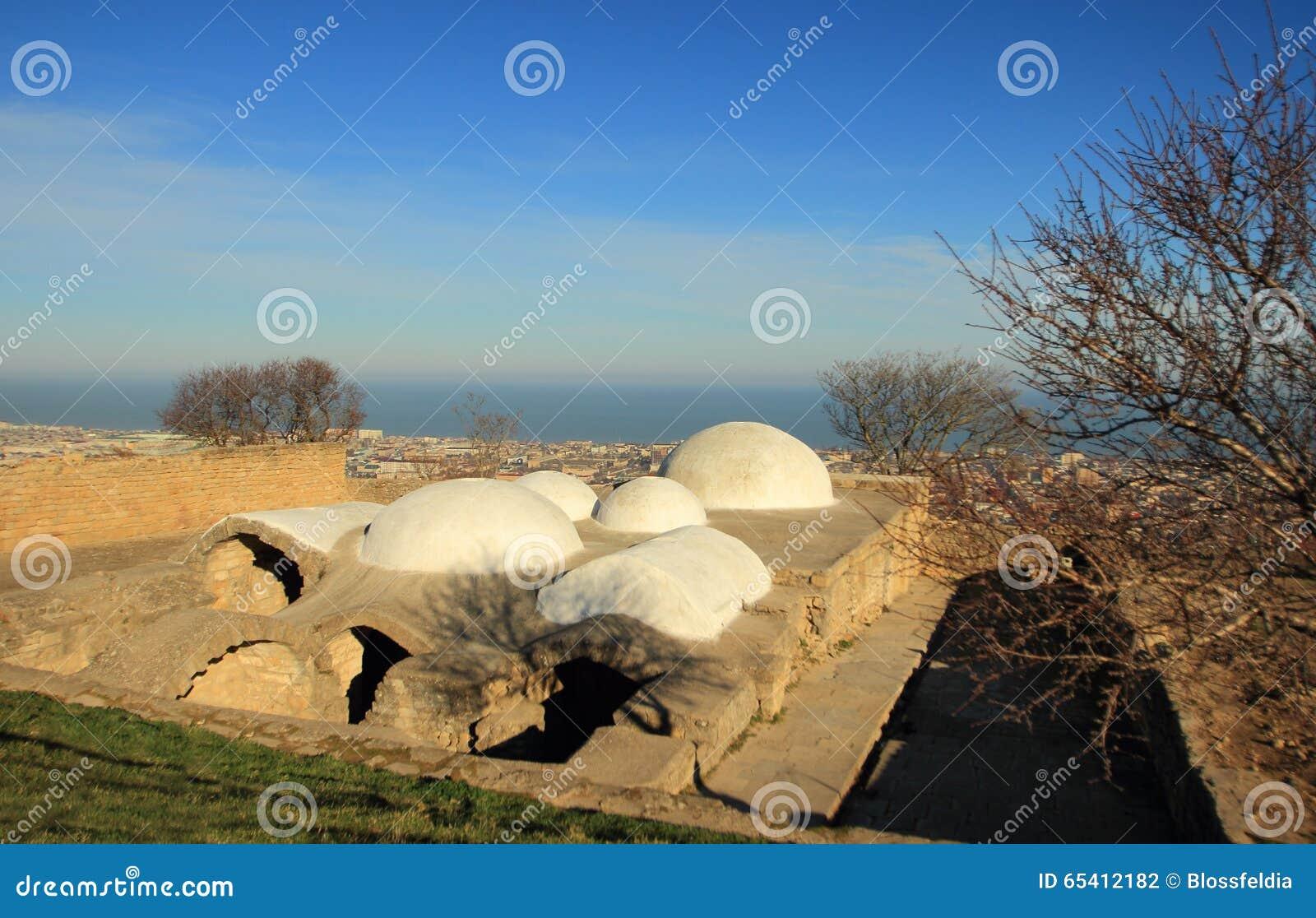 Les bains dans la forteresse Naryn-Kala de Sassanid dans la ville de Derbent, République de Dagestan