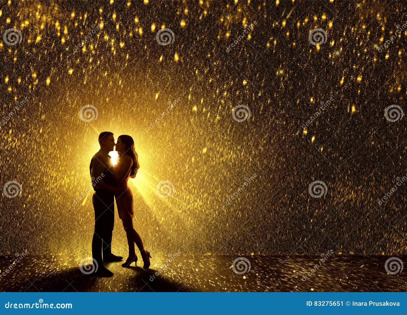 Les baisers couplent la silhouette, contournent l amour de couples de Valentine s