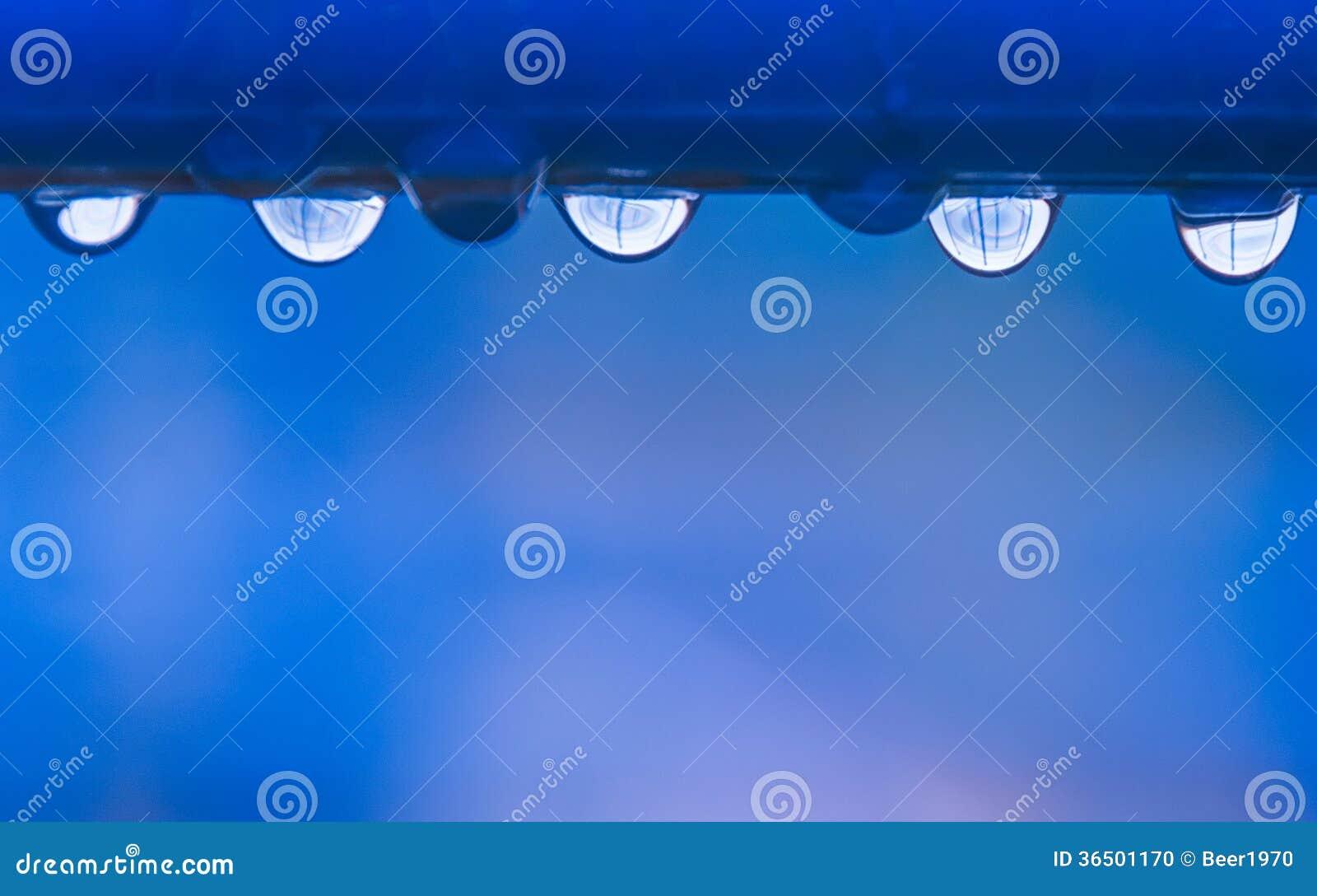 Les baisses de l eau sur la barre horizontale