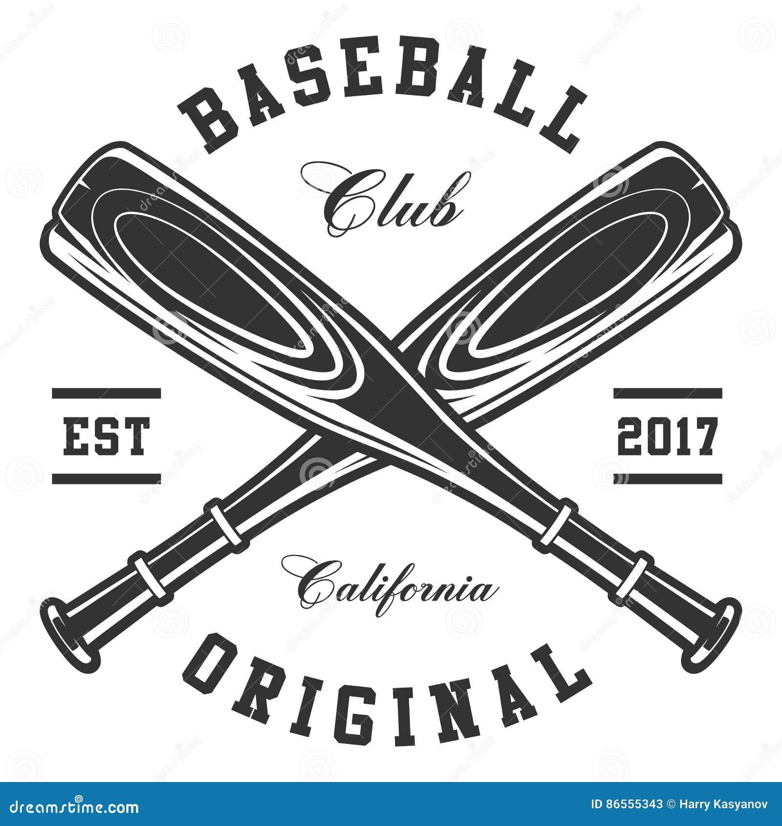 Les battes de baseball ont isolé le blanc