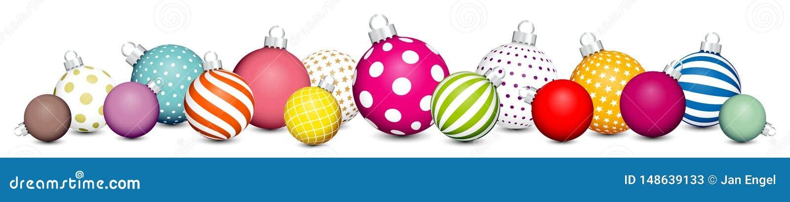 Les boules de Noël de bannière modèlent pour colorer l argent blanc