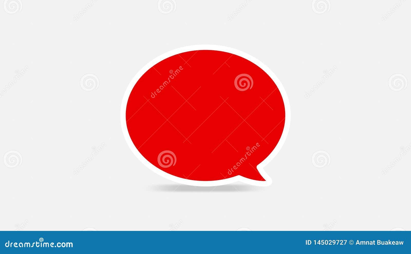 Les bulles rouges vides de la parole simples pour l annonce, les bulles comiques de la parole gribouillent ou dialogue d autocoll