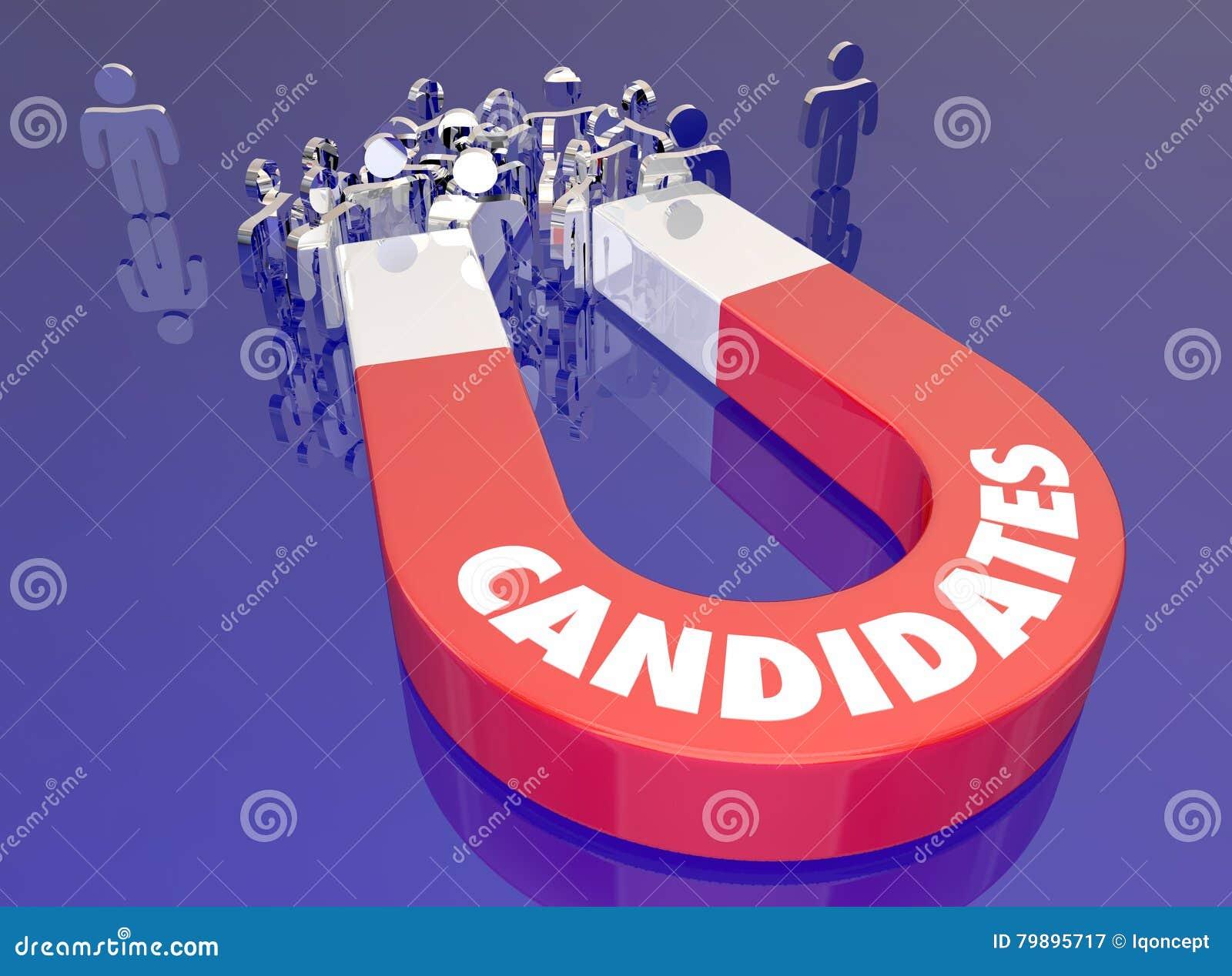 Les candidats attirent Job Applicants Magnet People Word